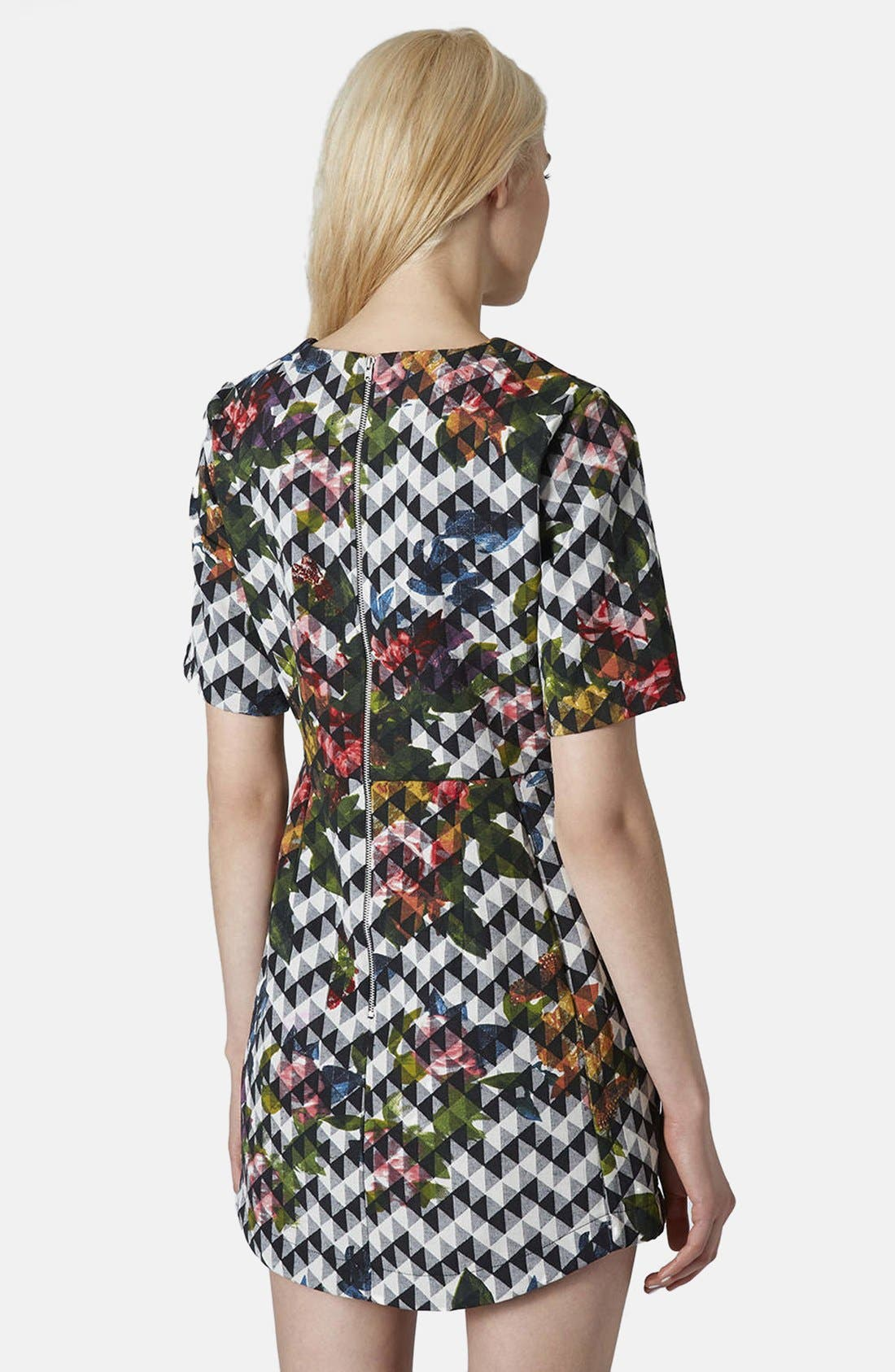 Alternate Image 2  - Topshop Blurred Jacquard A-Line Dress