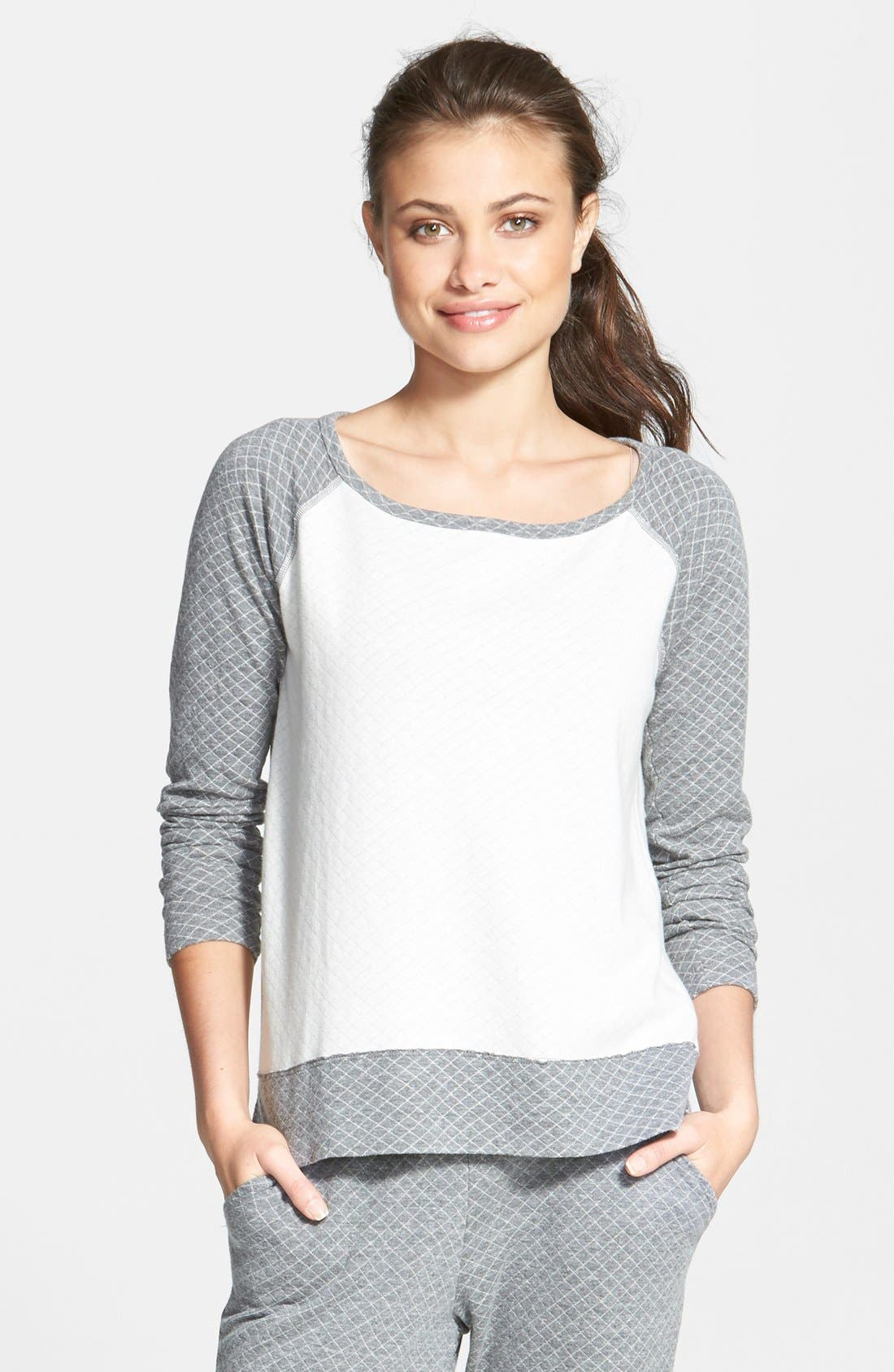 Main Image - Beyond Yoga Quilted Sweatshirt