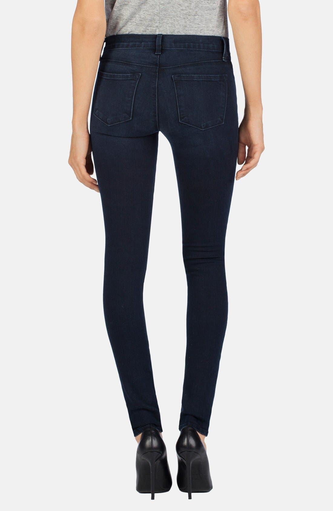 Alternate Image 2  - J Brand 'Willow' Moto Skinny Jeans (Verve)