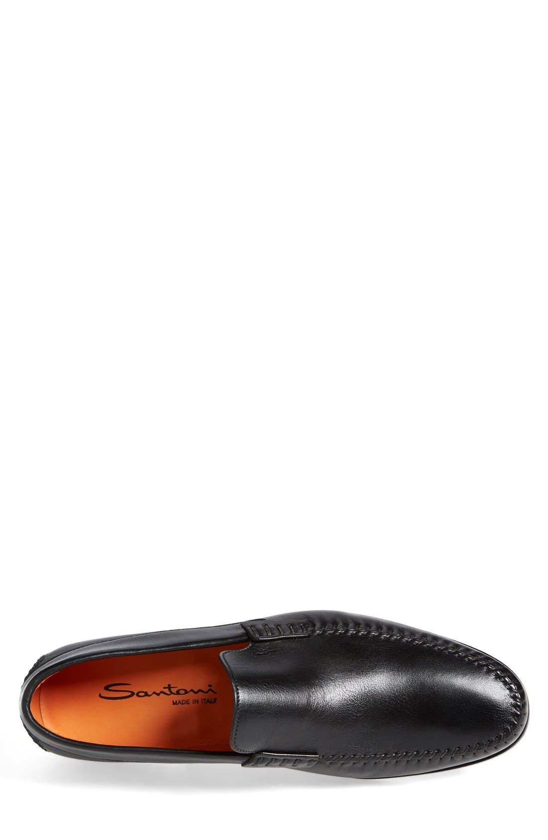 'Auburn' Venetian Loafer,                             Alternate thumbnail 3, color,                             Black Leather
