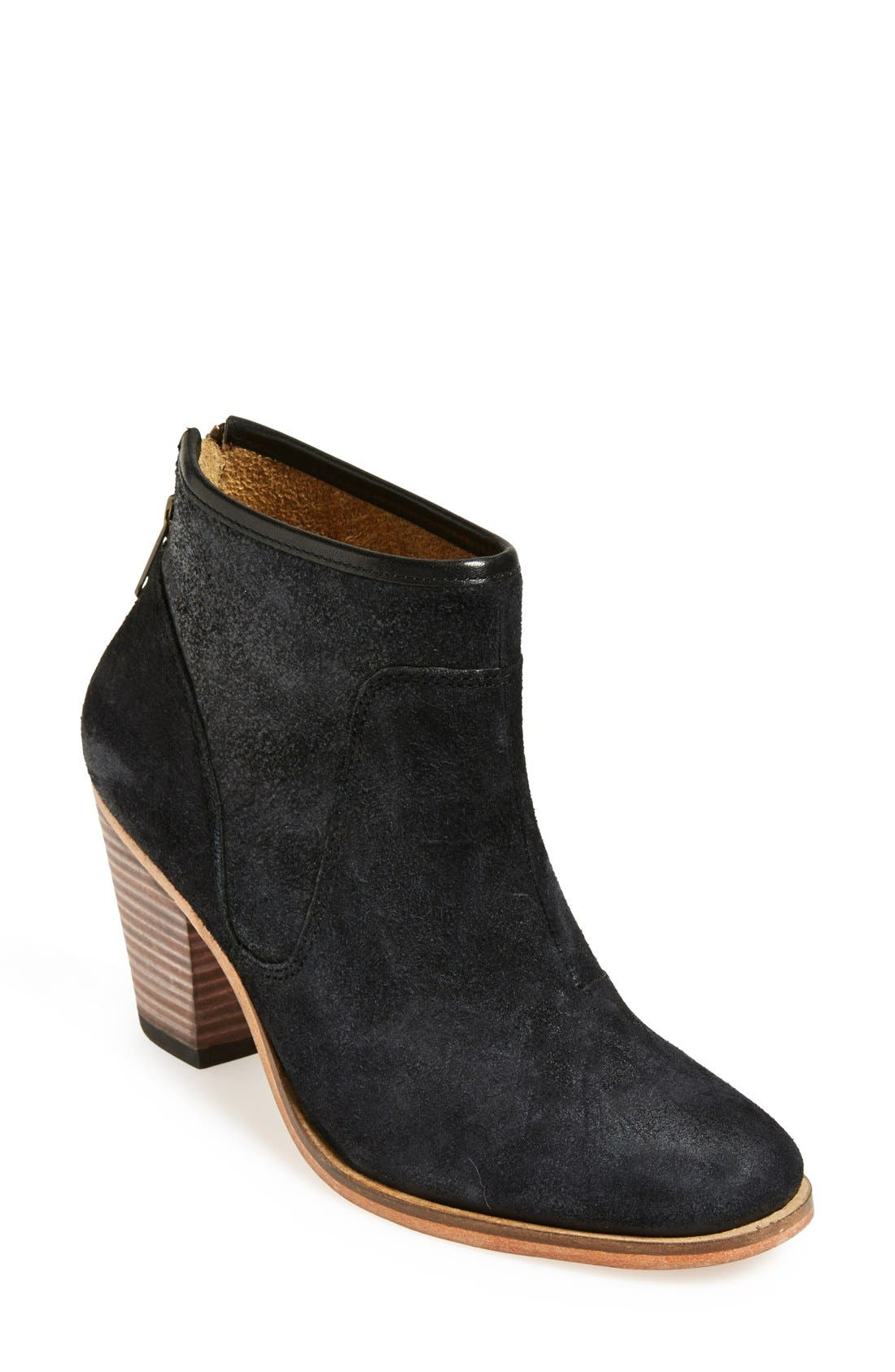 'Belgrave' Bootie,                             Main thumbnail 1, color,                             Black Distressed