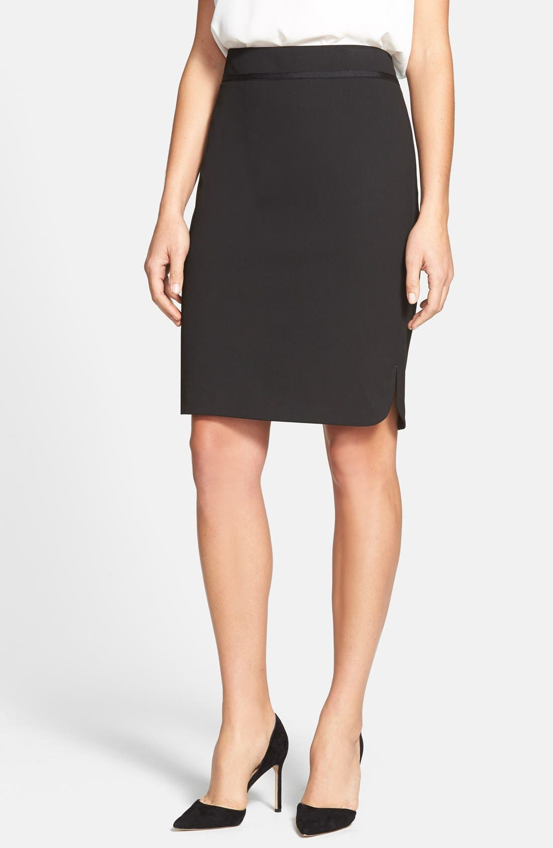 Main Image - Jones New York 'Lucy' Ribbon Trim Pencil Skirt