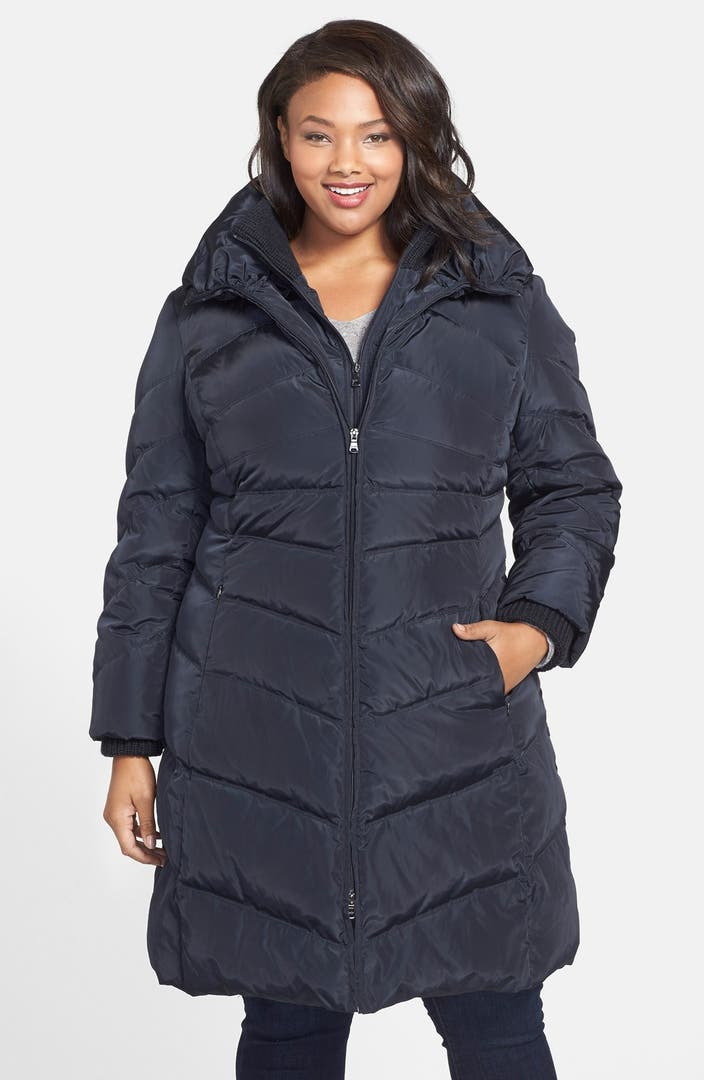 Jessica Simpson Down Amp Feather Fill Coat Plus Size