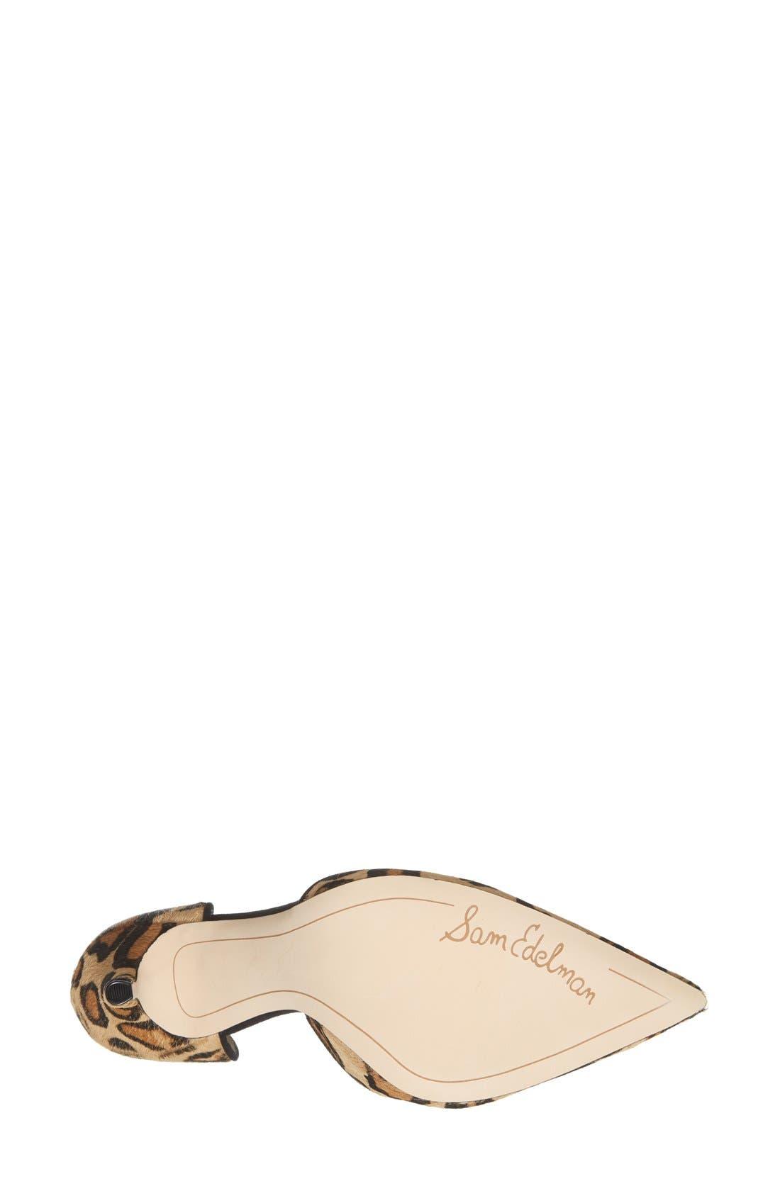 Alternate Image 4  - Sam Edelman 'Delilah' Calf Hair d'Orsay Pump (Women)