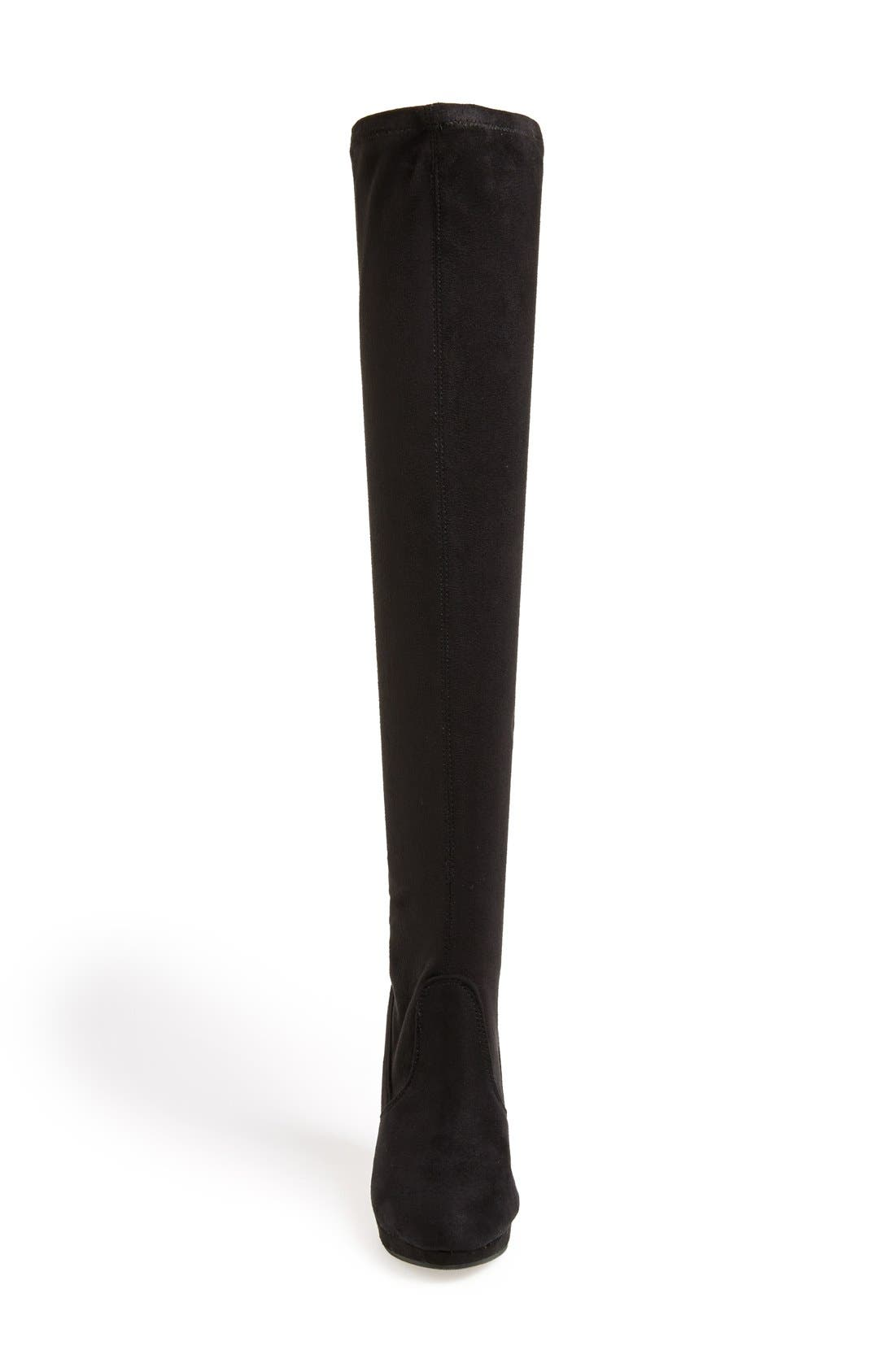 REPORT 'Nadya' Over The Knee Boot,                             Alternate thumbnail 3, color,                             Black