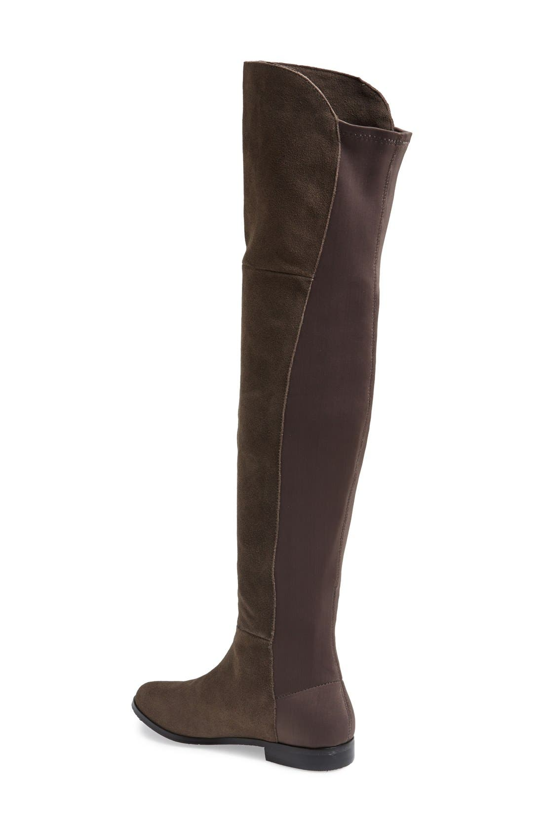 Alternate Image 2  - Chinese Laundry 'Riley' Stretch Back Suede Over The Knee Boot (Women)