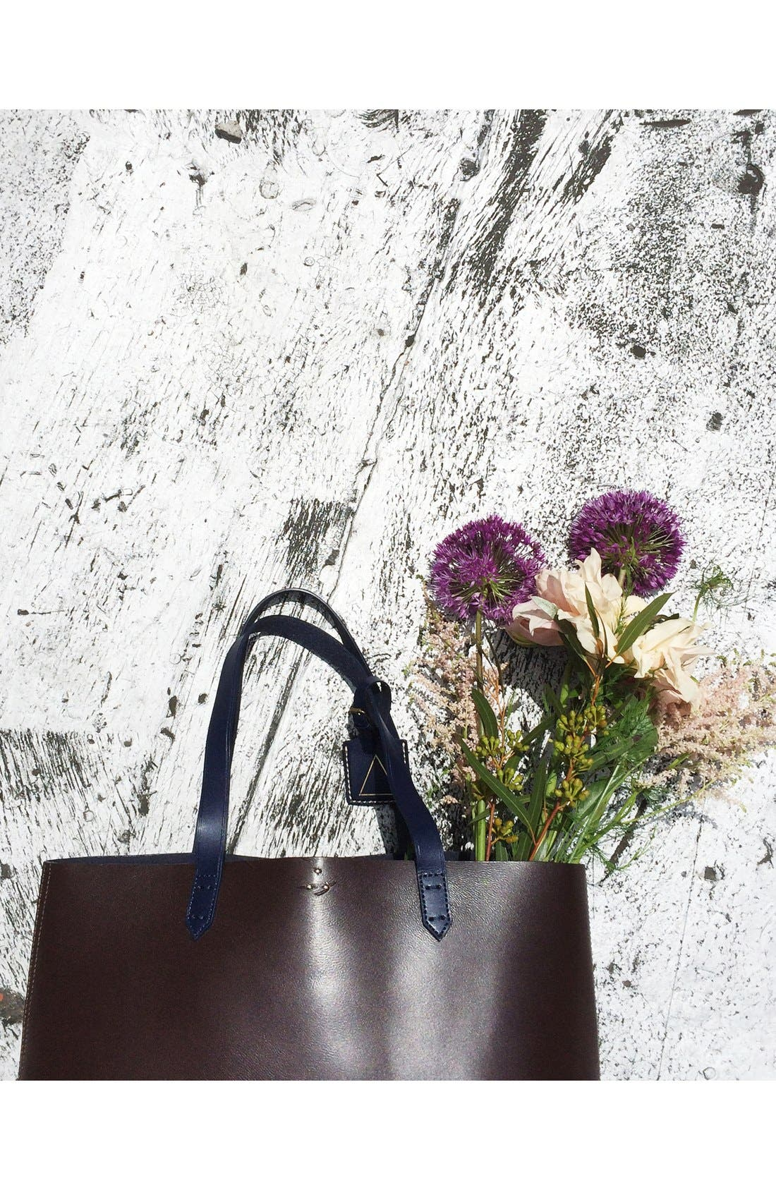 'Commuter' Leather Tote,                             Alternate thumbnail 4, color,