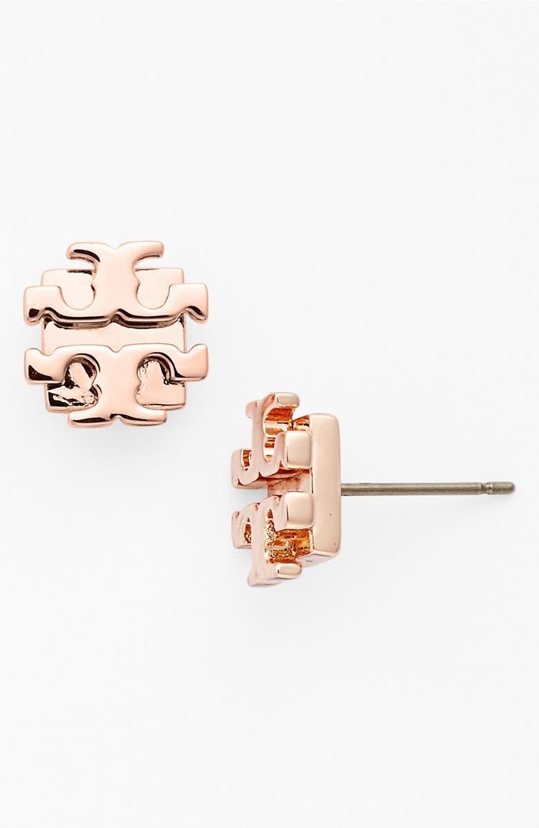 Small Logo Stud Earrings
