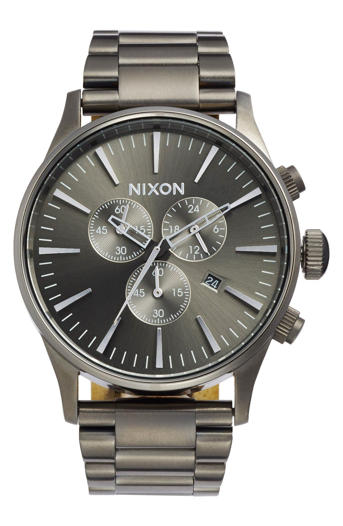 Alternate Image 1 Selected - Nixon 'The Sentry' Chronograph Bracelet Watch, 42mm