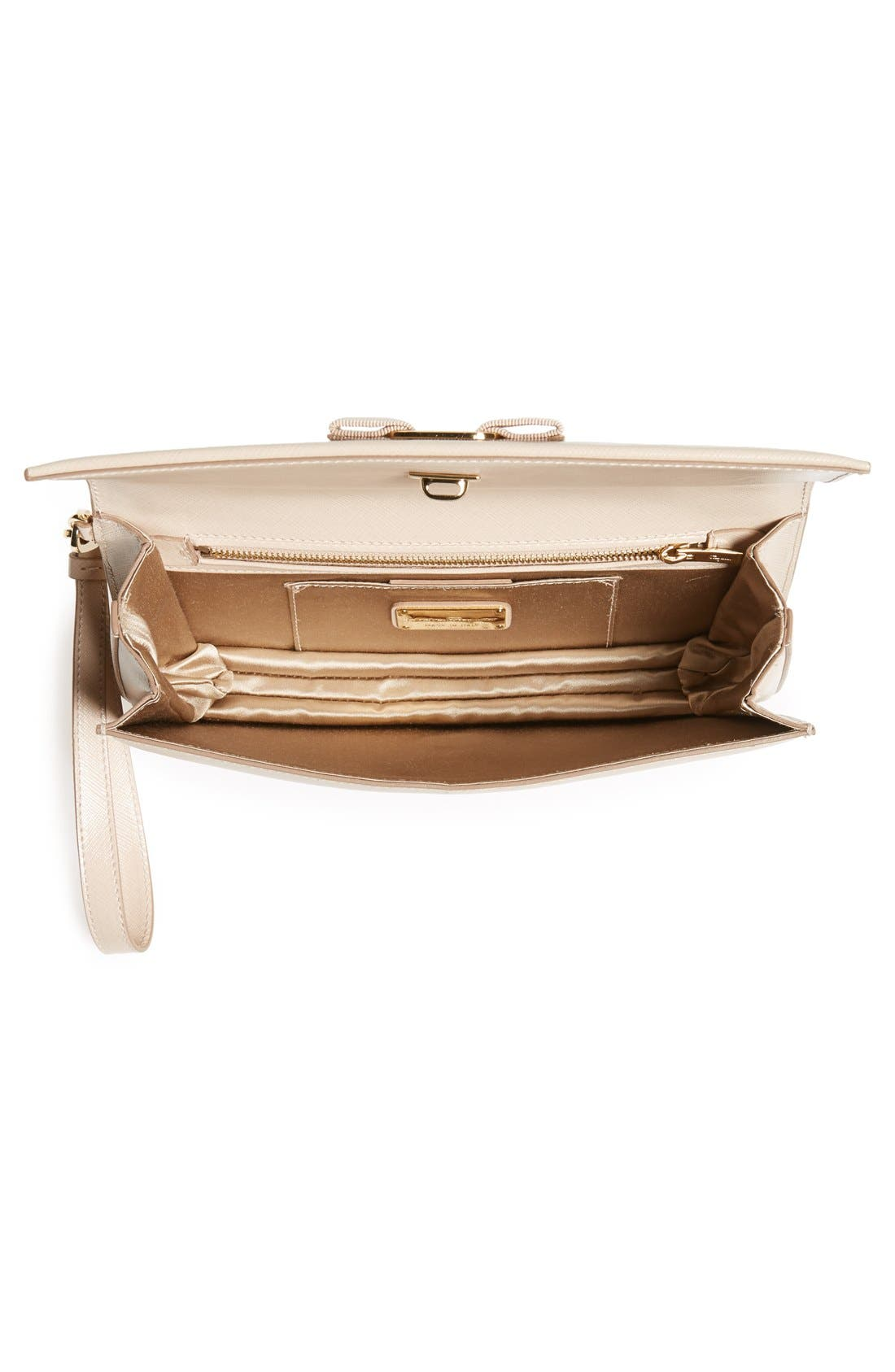 'Camy' Clutch,                             Alternate thumbnail 3, color,                             New Bisque