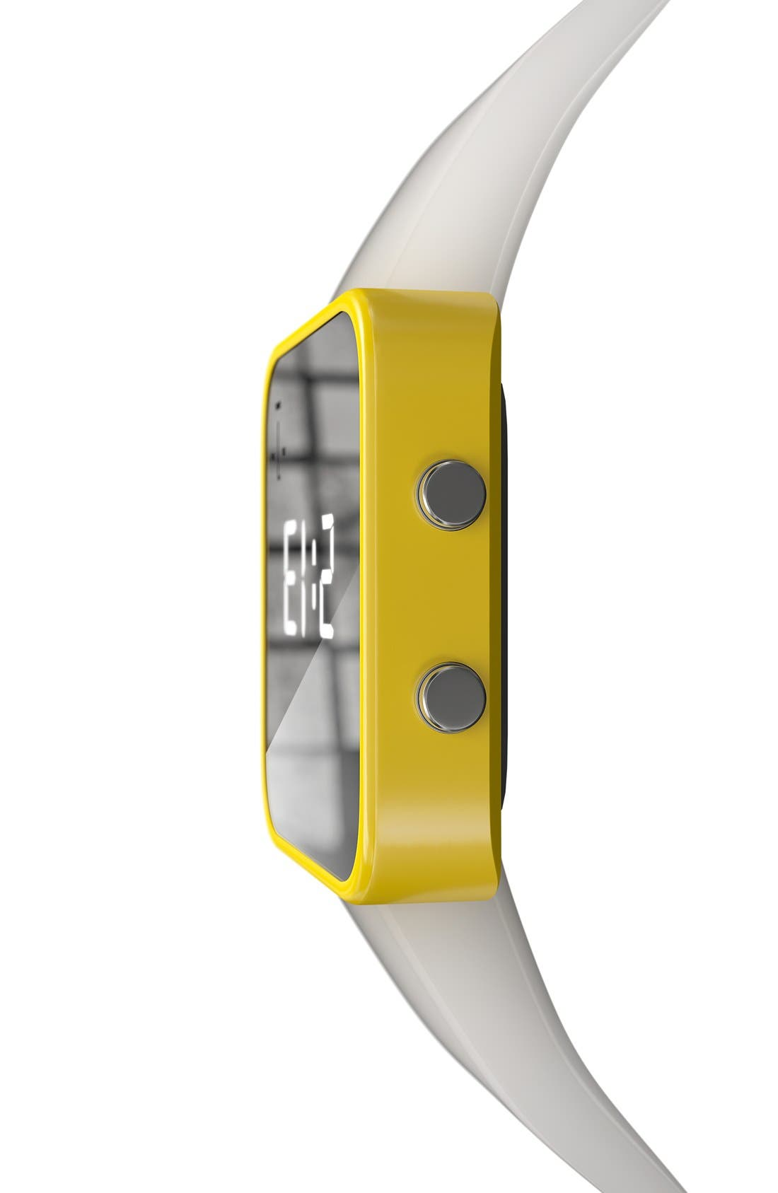 Alternate Image 5  - 1:Face 'Water' Square Digital Silicone Strap Watch, 38mm