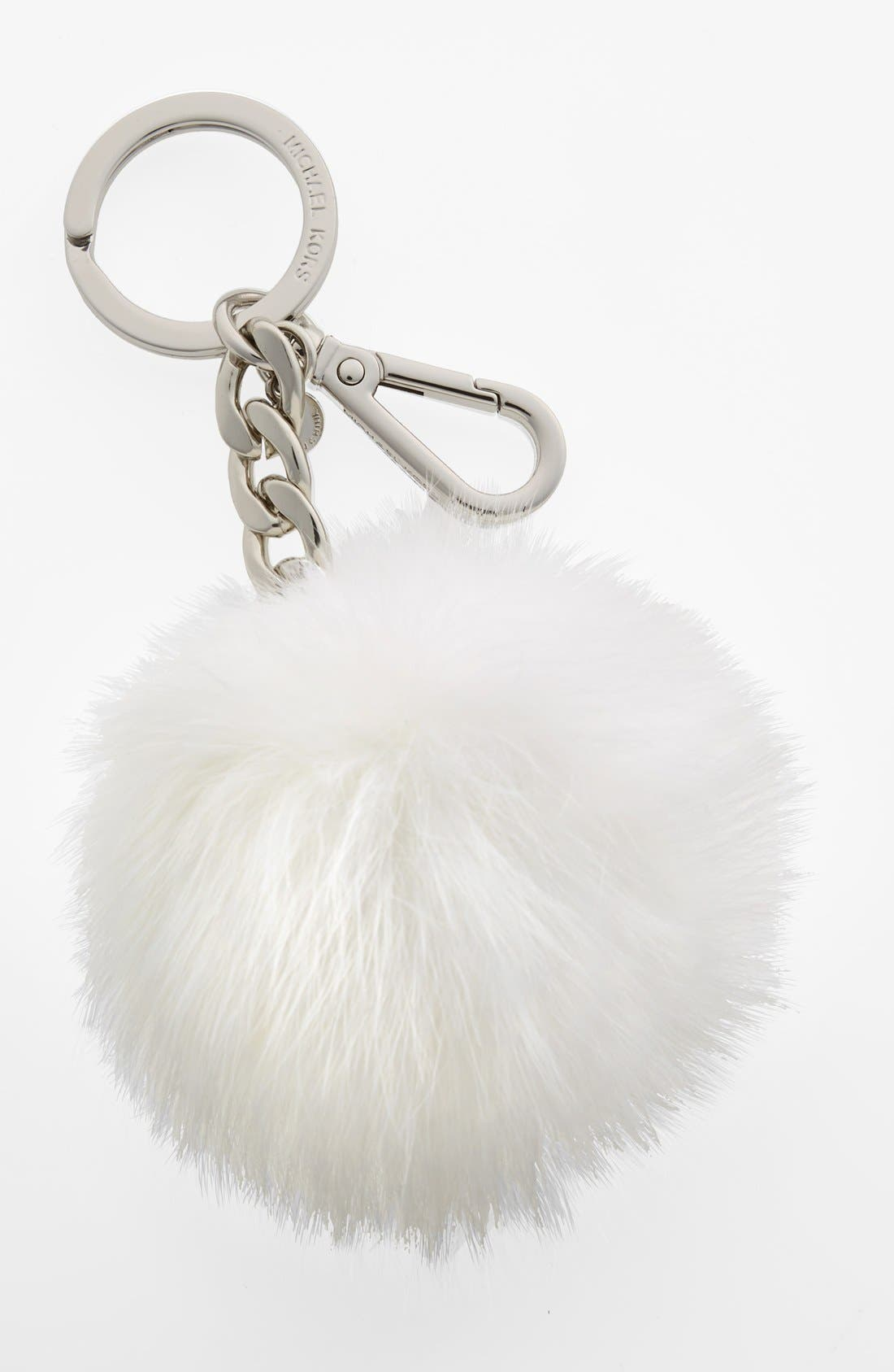 Main Image - MICHAEL Michael Kors 'Selma' Genuine Fox Fur Key Fob