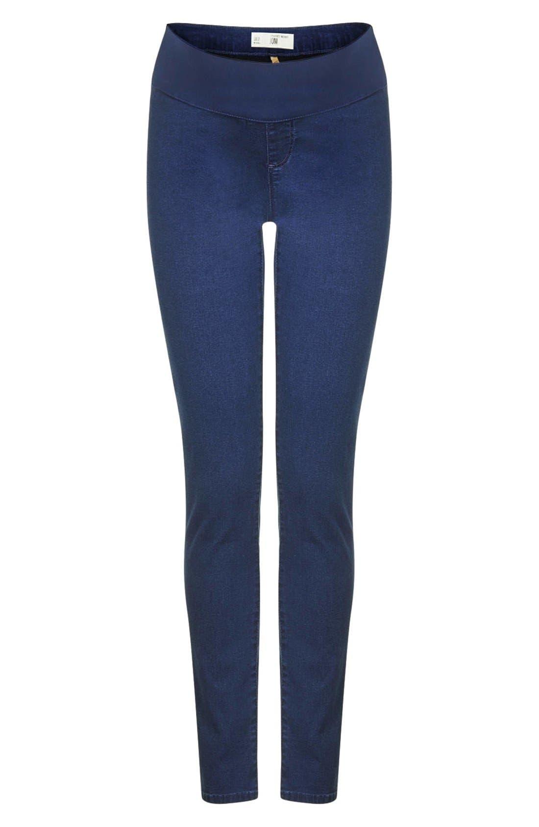 Alternate Image 1 Selected - Topshop Maternity Skinny Moto Jeans