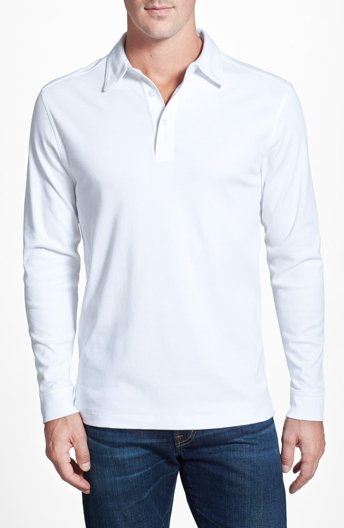 Belfair Pima Cotton Polo,                         Main,                         color, White