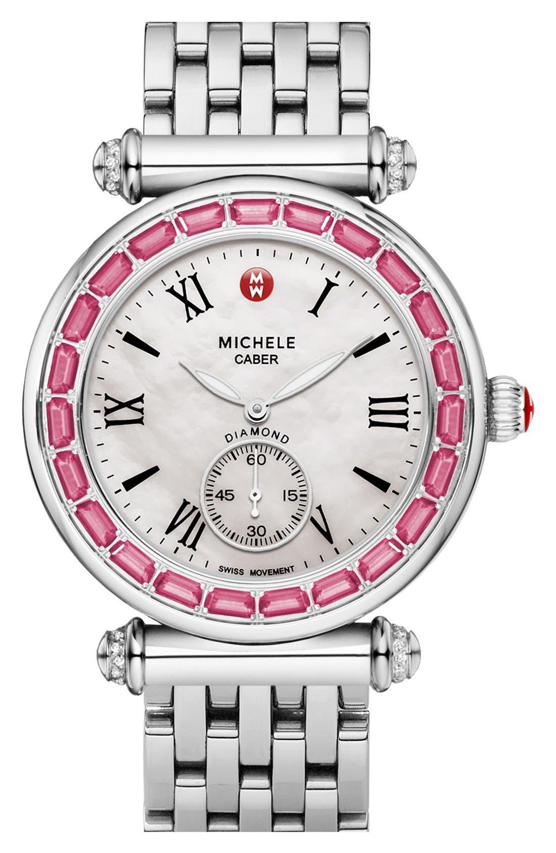 Alternate Image 2  - MICHELE 'Caber' Diamond Watch Case, 37mm