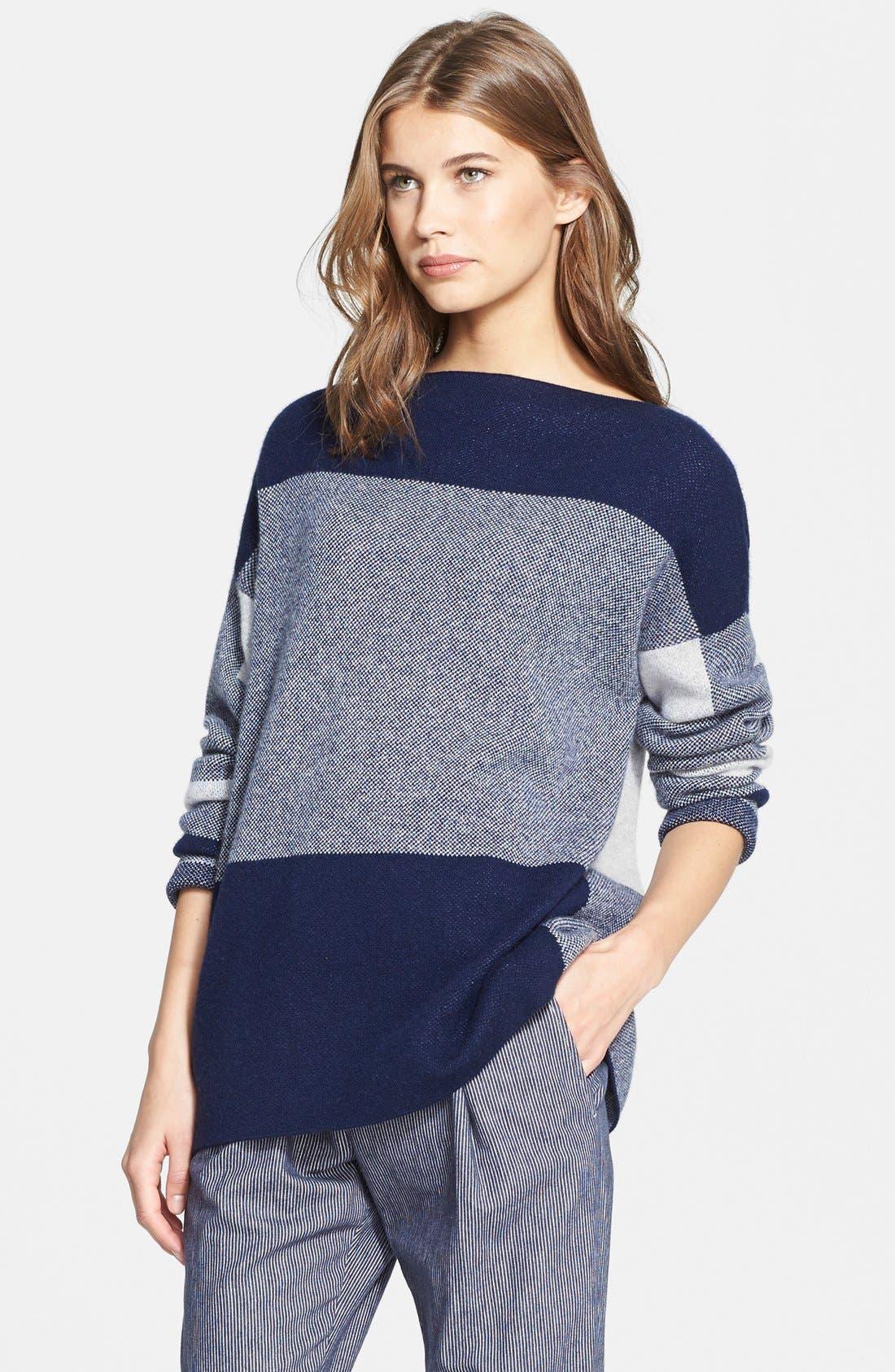 Alternate Image 1 Selected - Vince Intarsia Colorblock Sweater