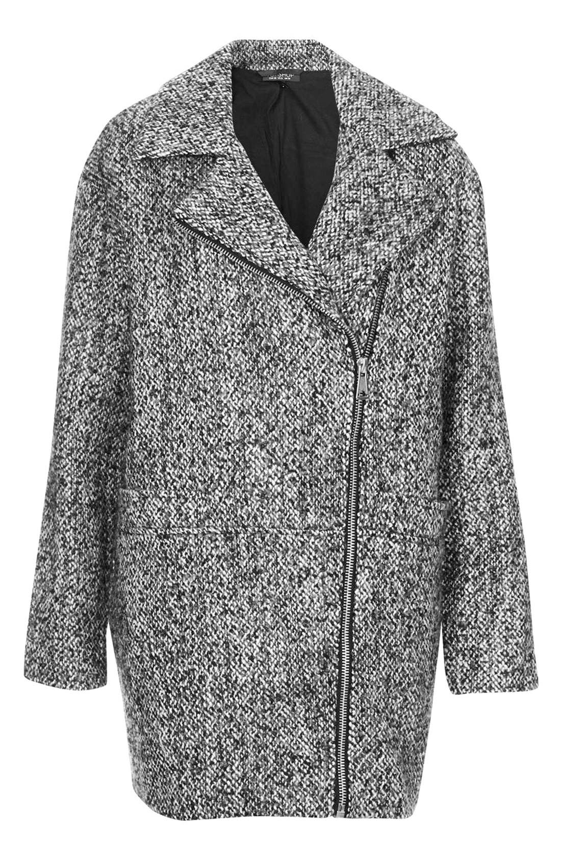 Alternate Image 3  - Topshop Textured Wool Jacket