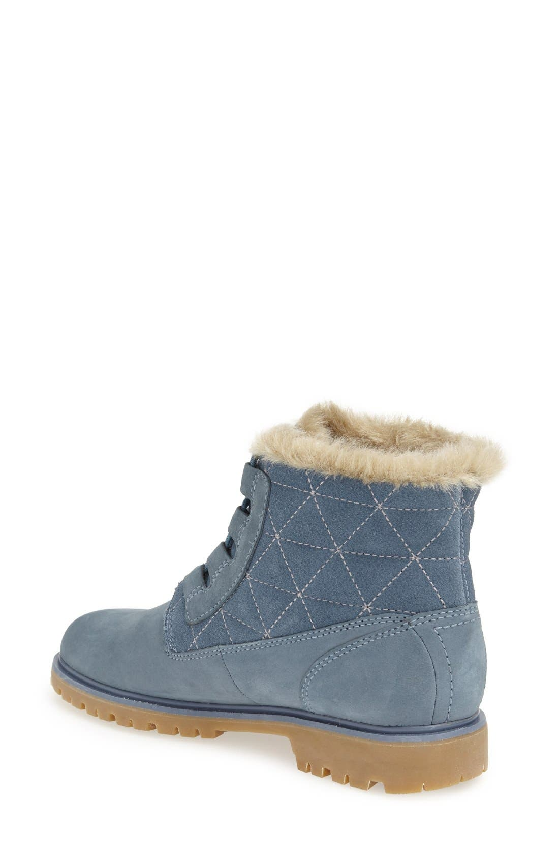 'Vega' Waterproof Leather Boot,                             Alternate thumbnail 2, color,                             Arctic Blue/ Natural