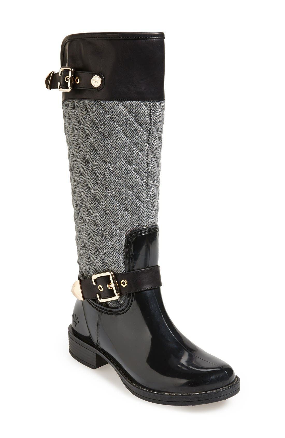 Alternate Image 1 Selected - Posh Wellies 'Peacon' Quilted Tall Rain Boot (Women)