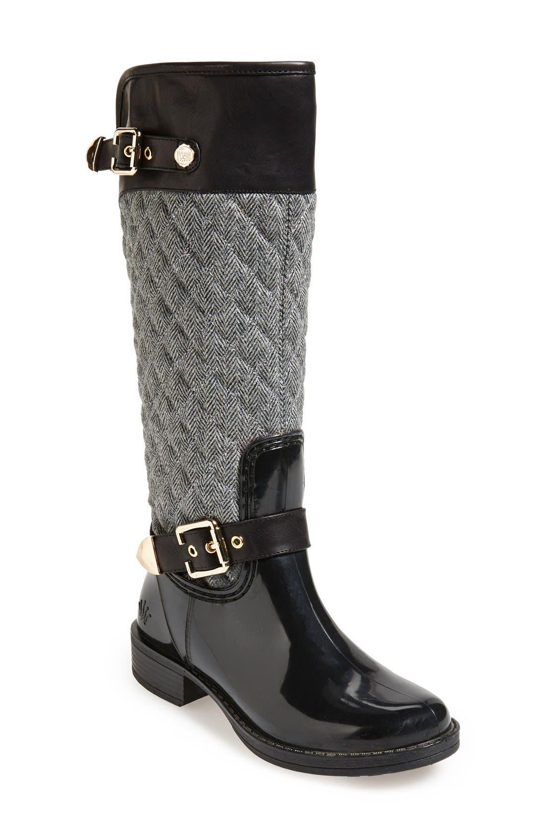 Main Image - Posh Wellies 'Peacon' Quilted Tall Rain Boot (Women)