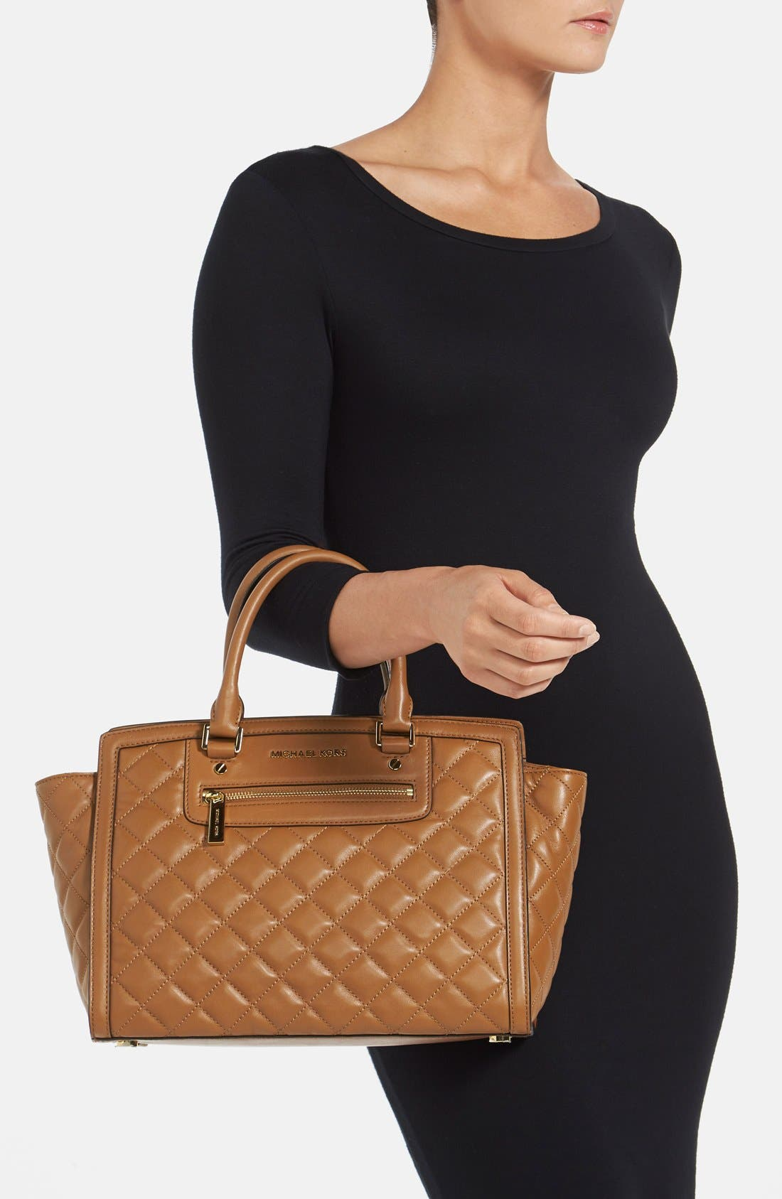 Alternate Image 2  - MICHAEL Michael Kors 'Large Selma' Quilted Leather Satchel