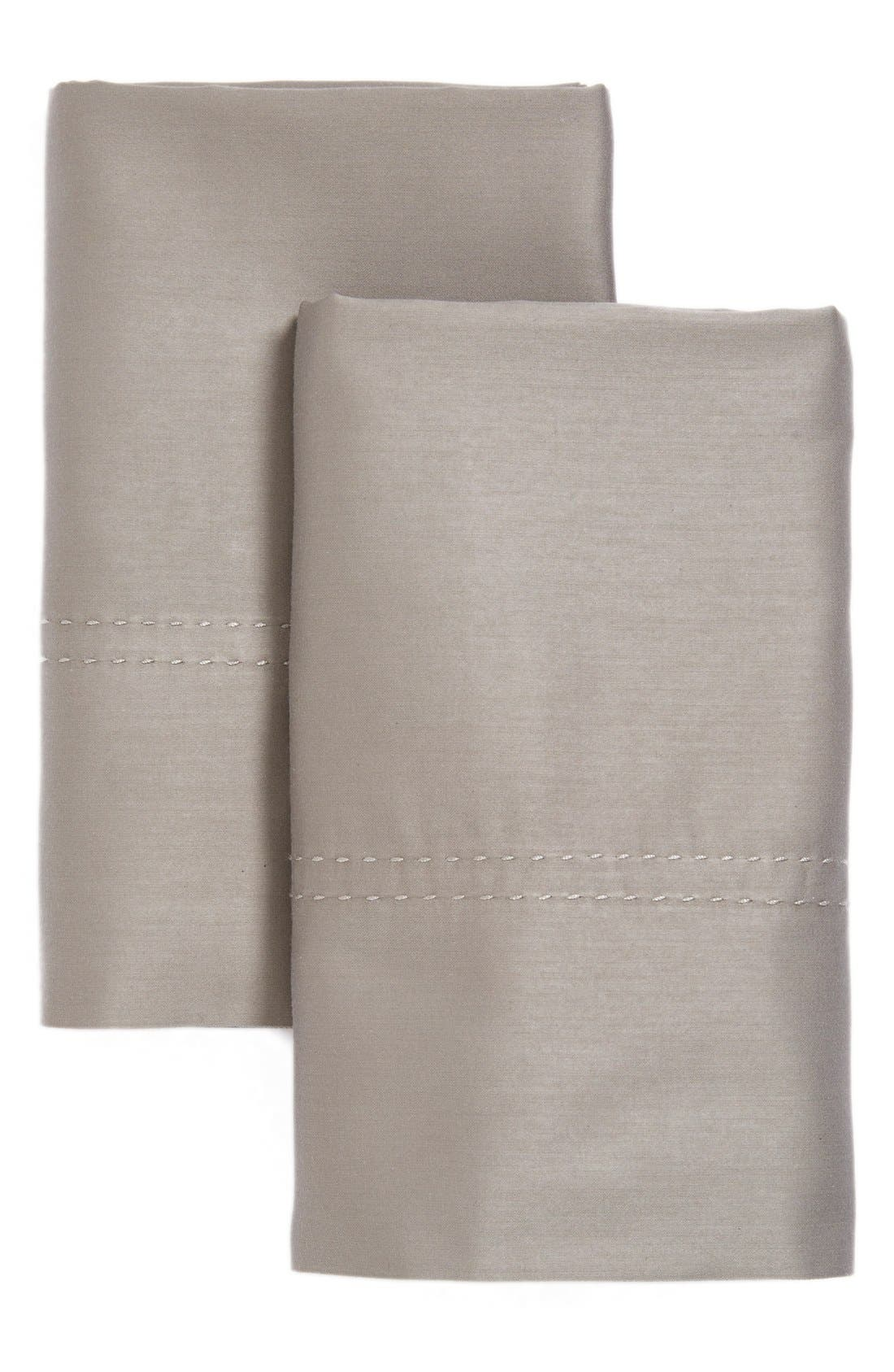 400 Thread Count Standard Pillowcases,                         Main,                         color, Grey Frost
