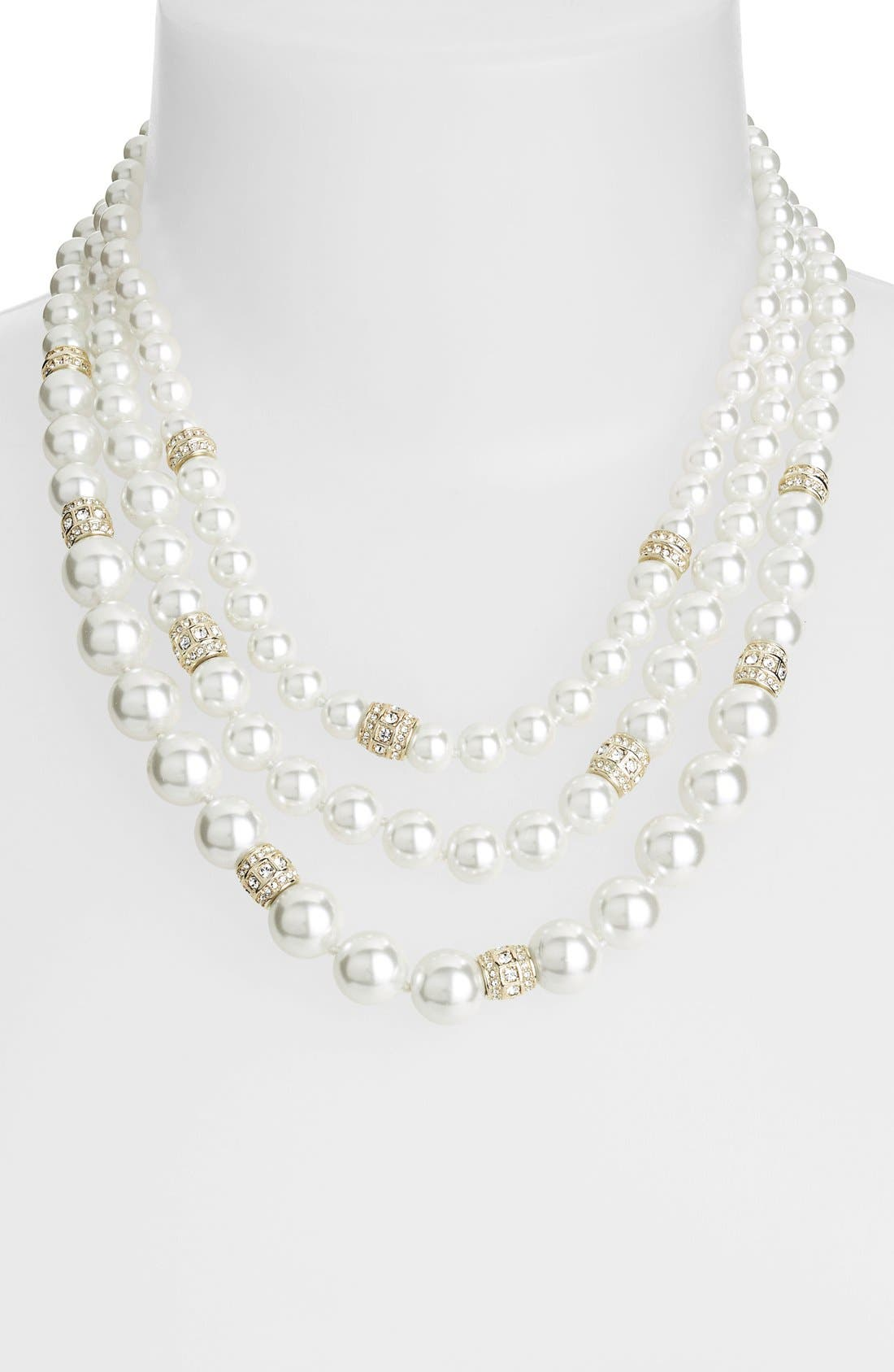 Alternate Image 1 Selected - Judith Jack 'Gala' Three-Row Faux Pearl Necklace