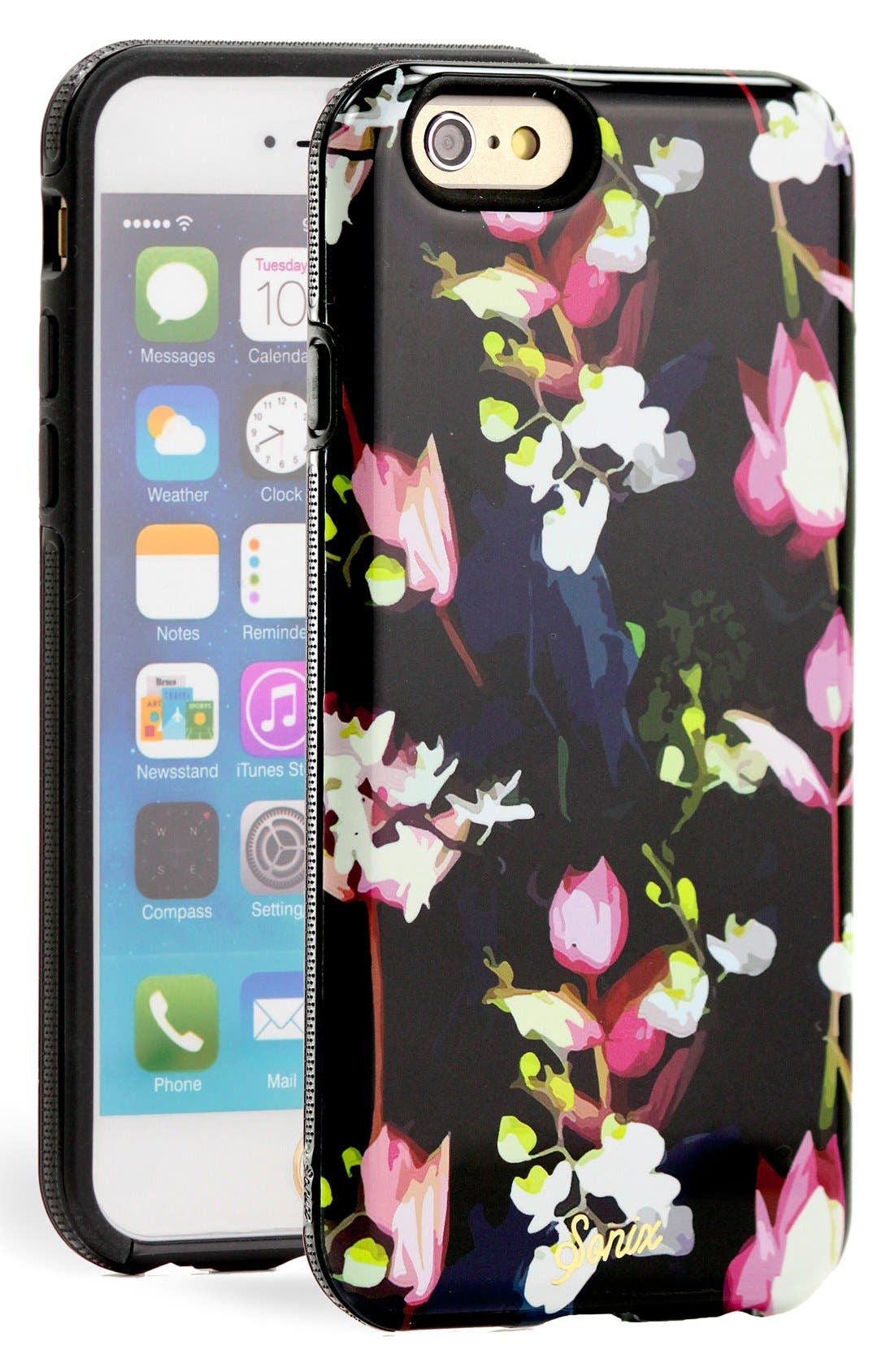 Alternate Image 1 Selected - Sonix 'Black Orchid' iPhone 6 Case