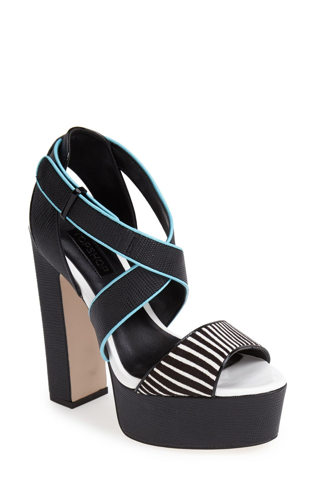 Alternate Image 1 Selected - Topshop 'Laine' Platform Sandal (Women)