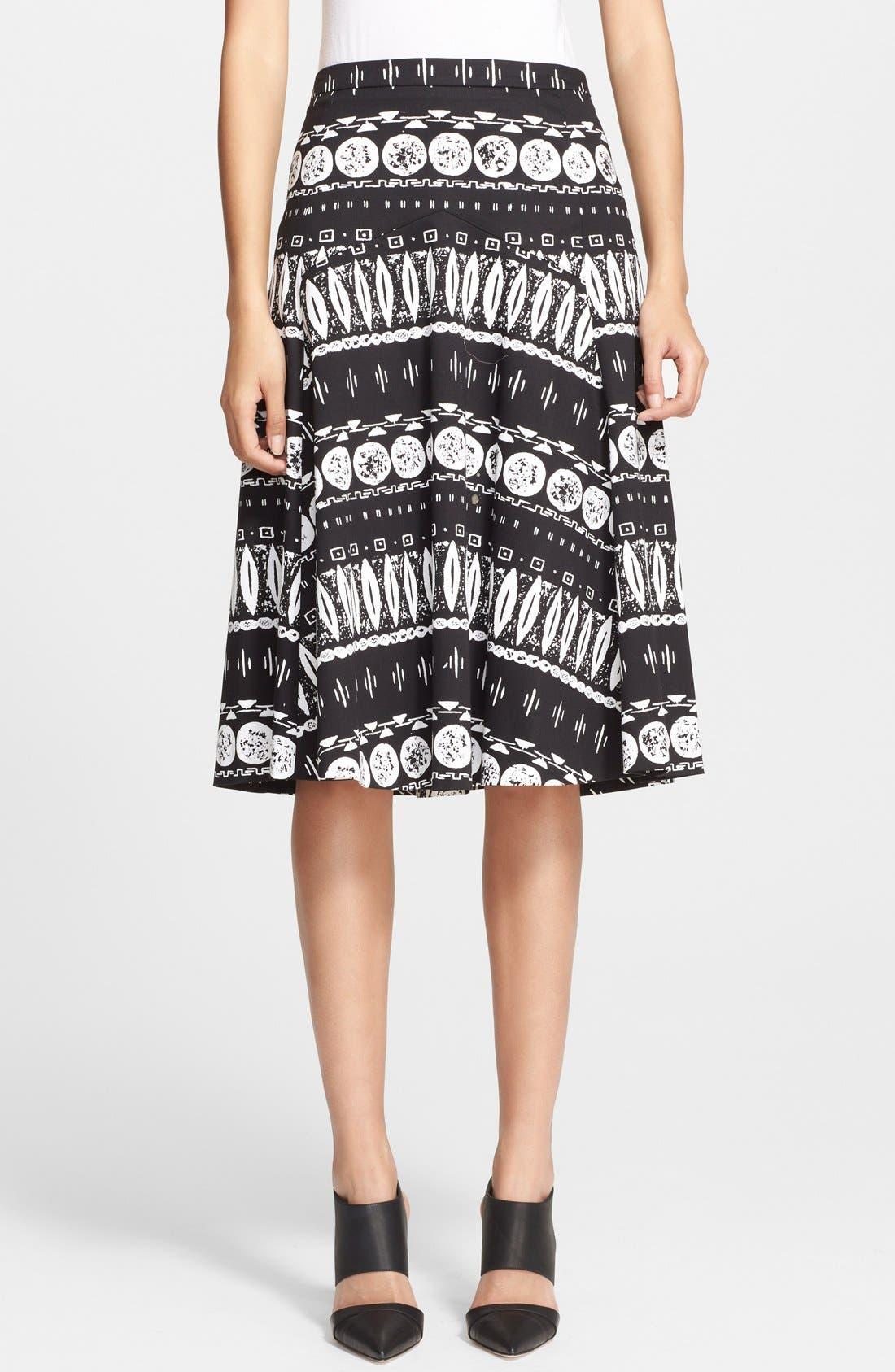 Alternate Image 1 Selected - Veronica Beard Print A-Line Skirt