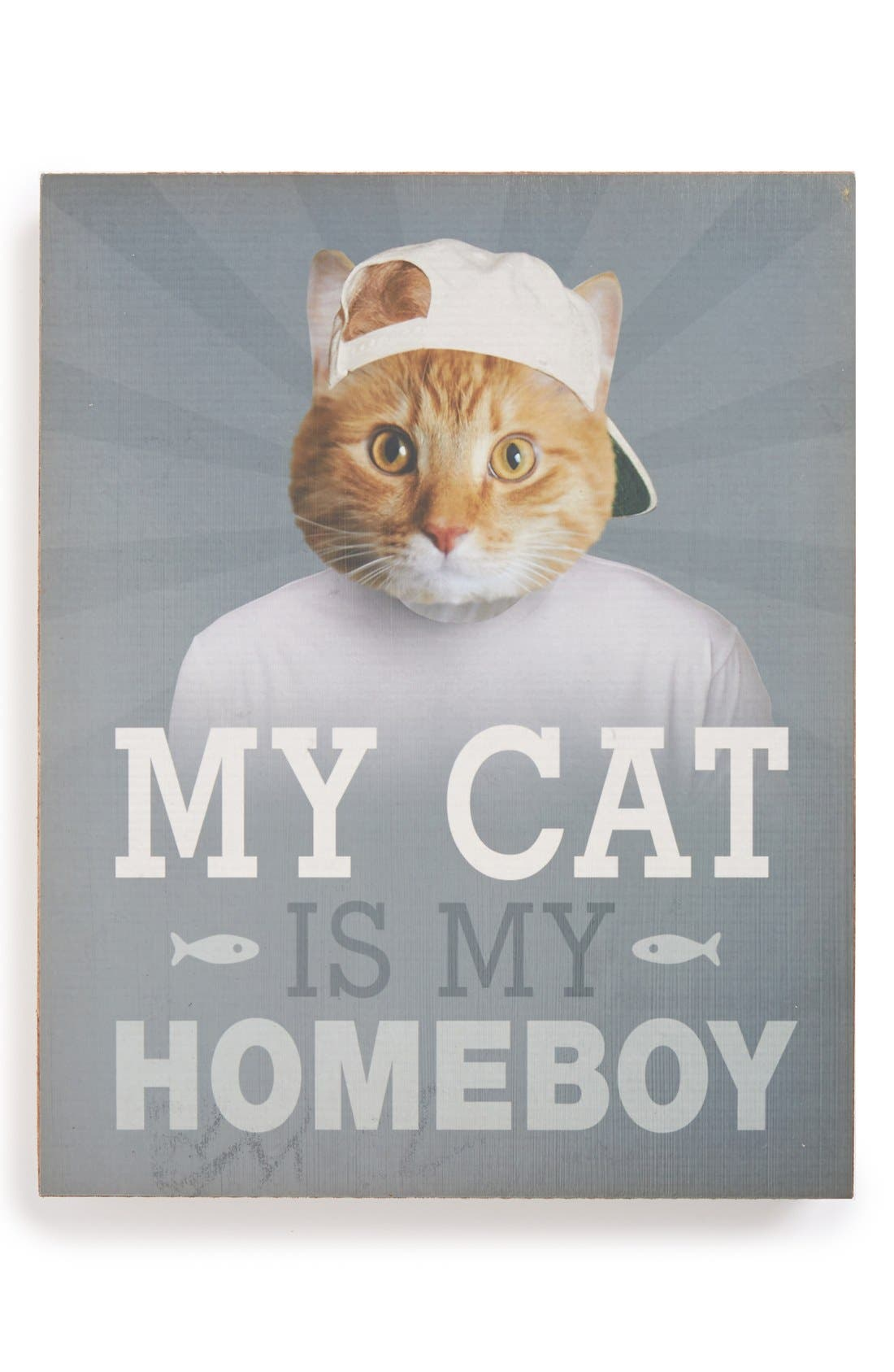 Alternate Image 1 Selected - Lucius Designs 'My Cat Is My Homeboy' Wall Art