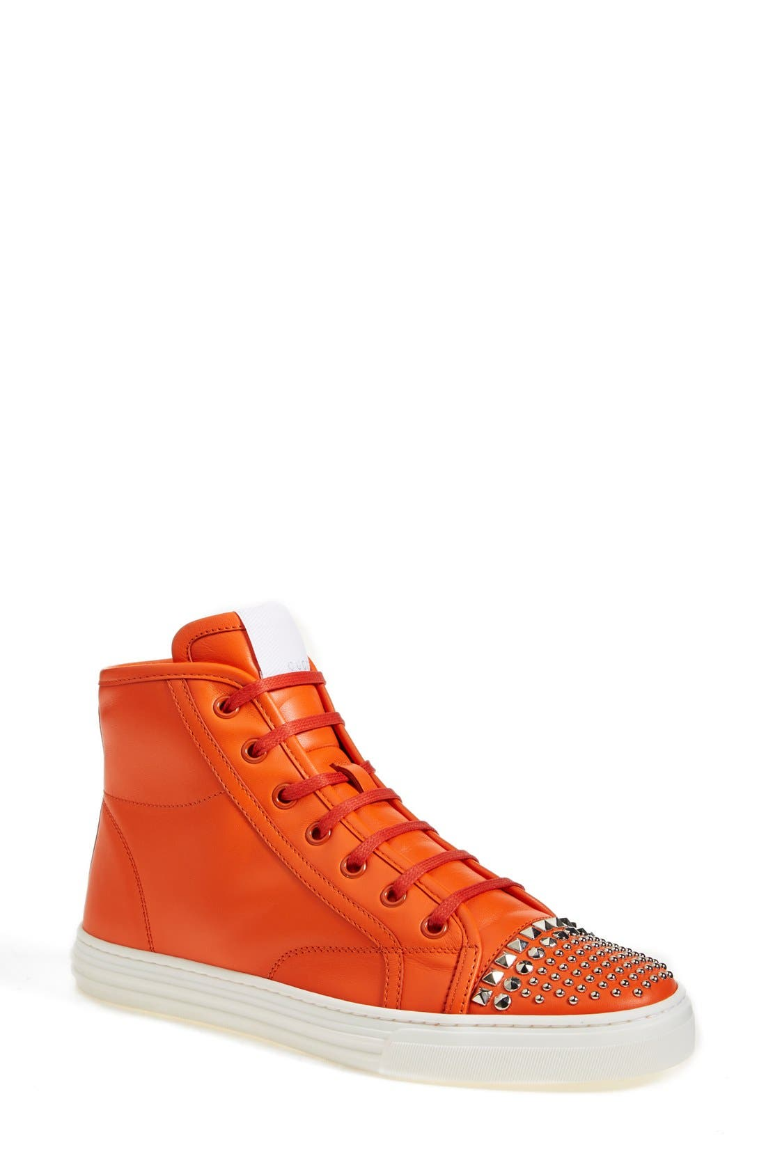 Alternate Image 1 Selected - Gucci 'California' Studded Sneaker (Women)