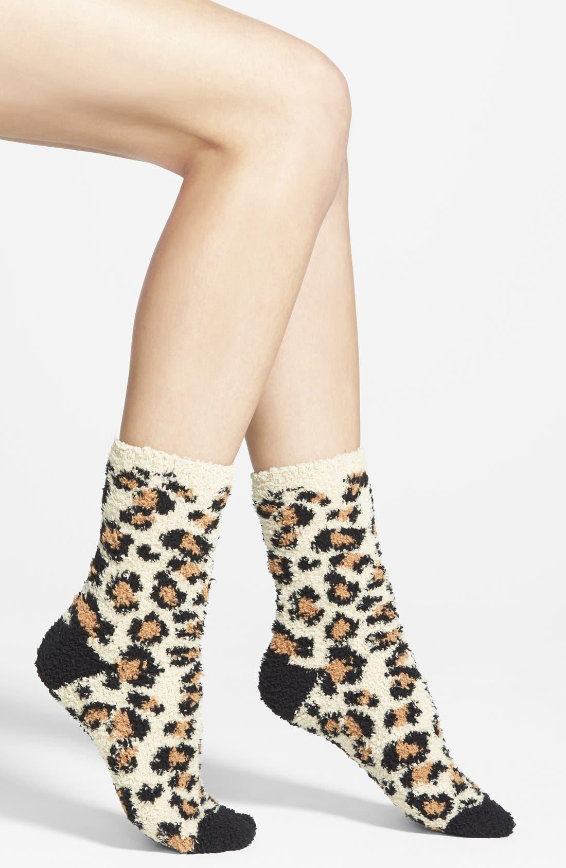 Alternate Image 1 Selected - PJ Salvage Leopard Print Socks