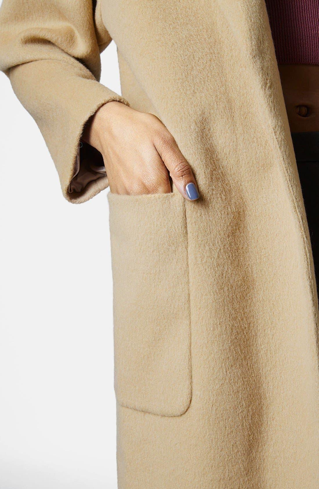 Alternate Image 4  - Topshop Longline Coat