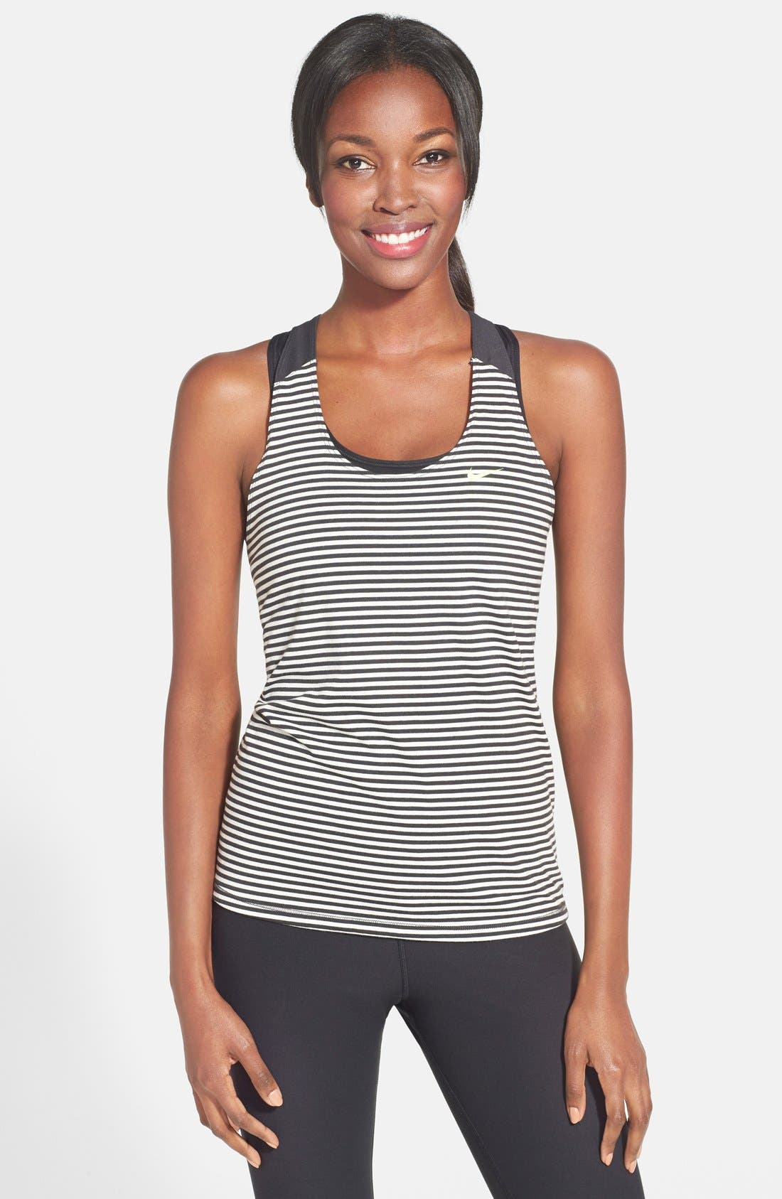 Alternate Image 1 Selected - Nike 'Elastika' Stripe Tank
