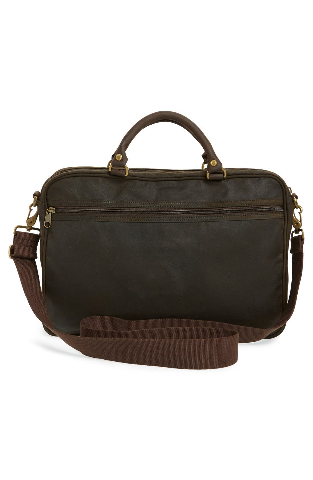 Alternate Image 3  - Barbour Waxed Canvas Briefcase