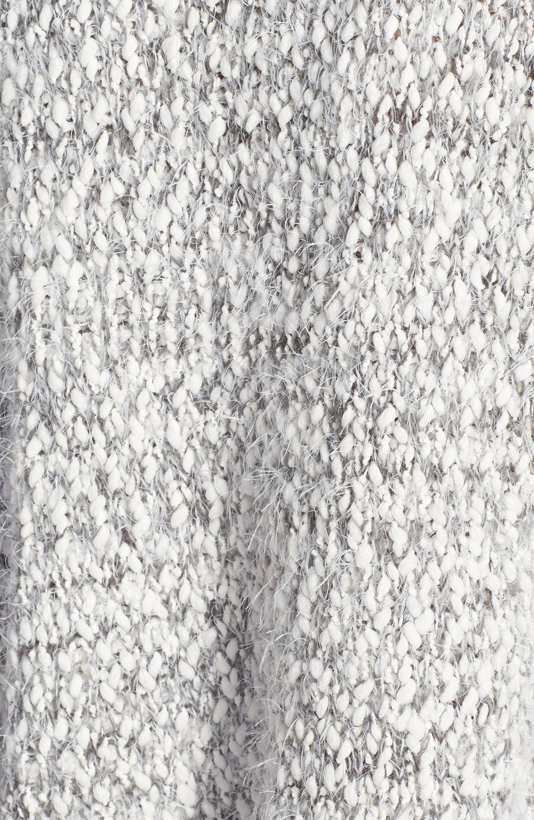ASTR Marled Fringe Sweater,                             Alternate thumbnail 3, color,                             Grey/ Cream
