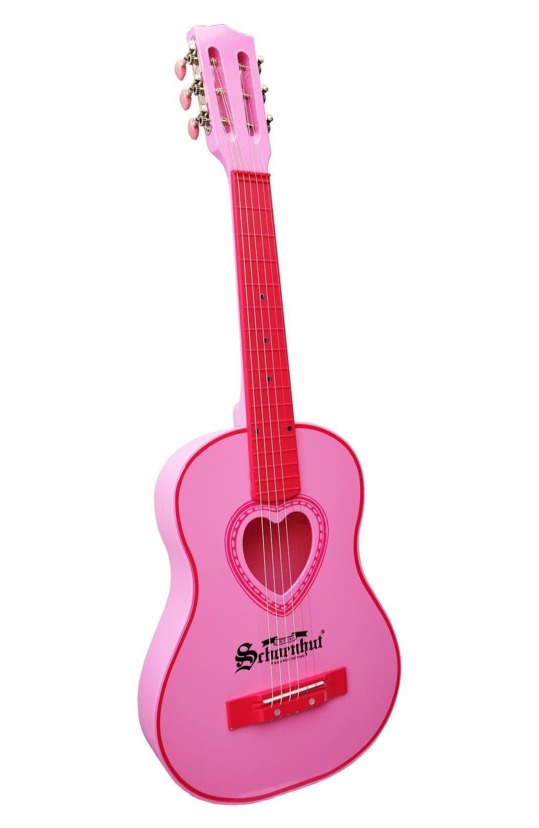 Six-String Acoustic Guitar,                             Main thumbnail 1, color,                             Pink