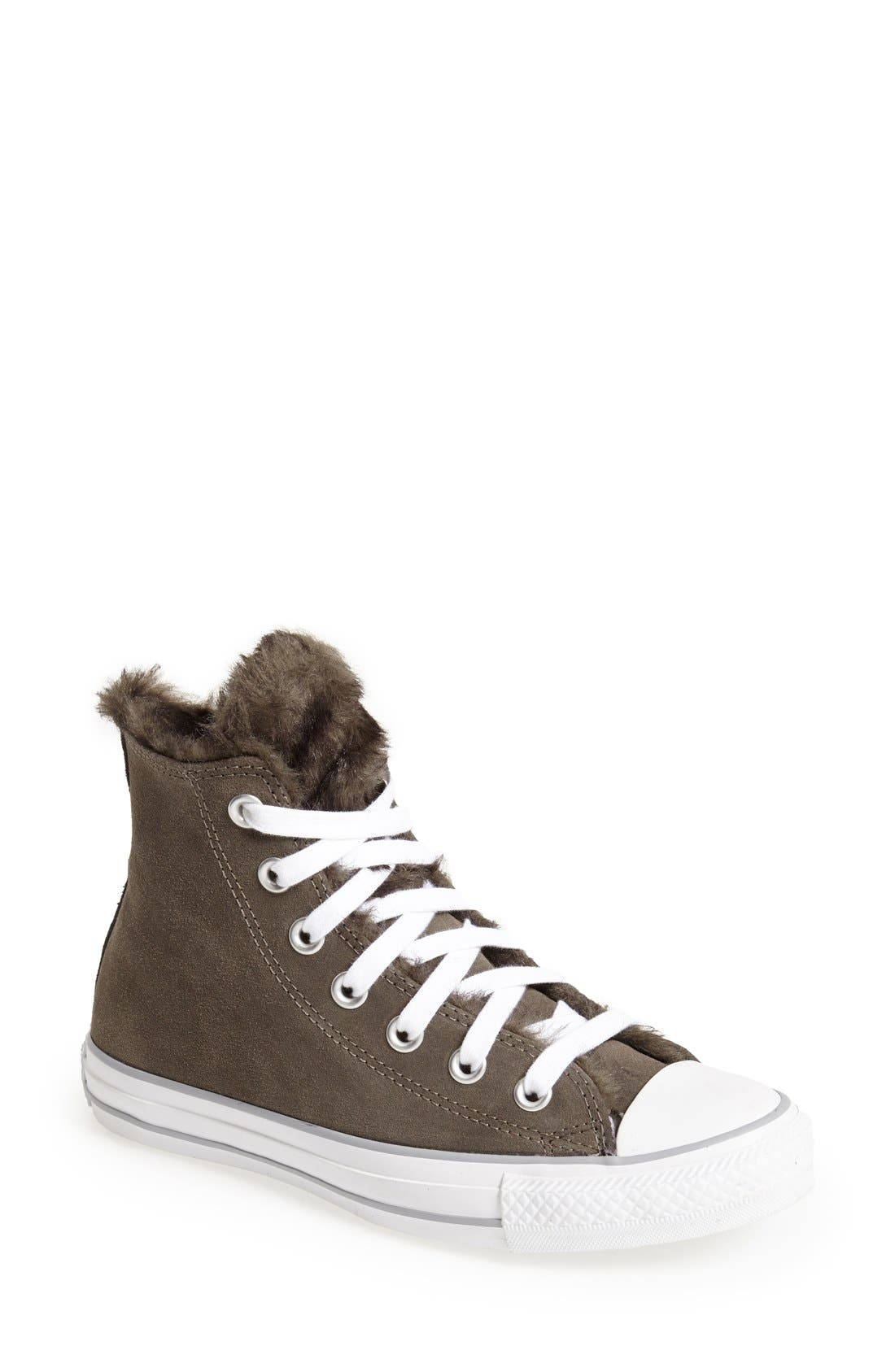 Alternate Image 1 Selected - Converse Chuck Taylor® All Star® 'Fun Fur' High-Top Sneaker (Women)