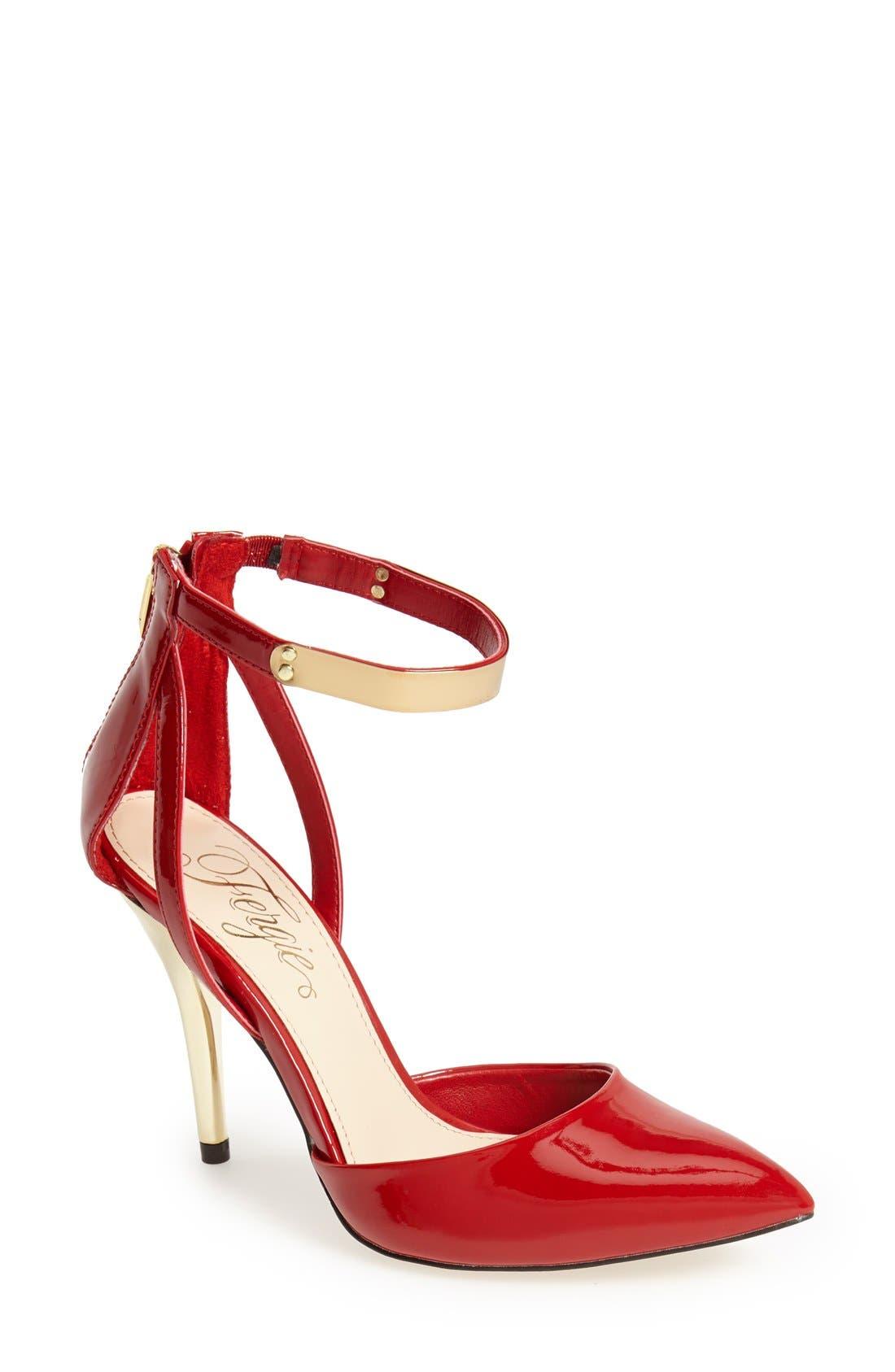 Main Image - Fergie 'Jazz' Ankle Strap d'Orsay Pump (Women)