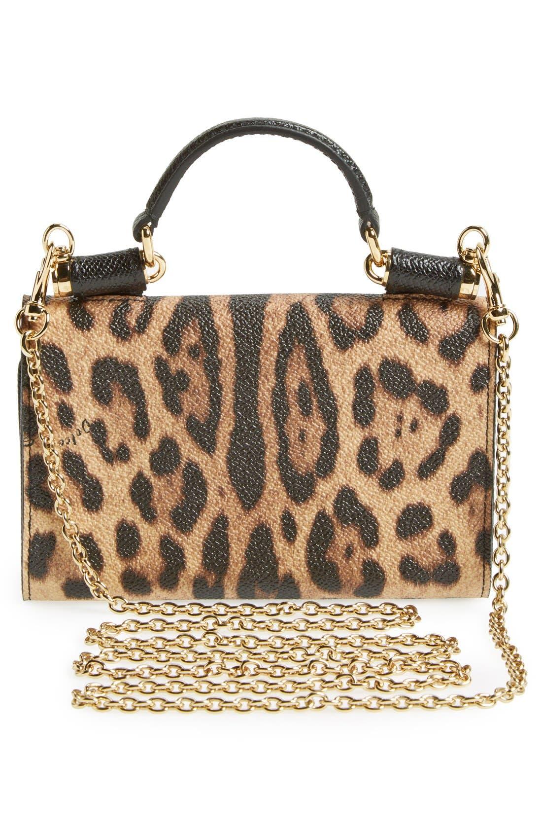 Alternate Image 4  - Dolce&Gabbana Leopard Print Smartphone Wallet
