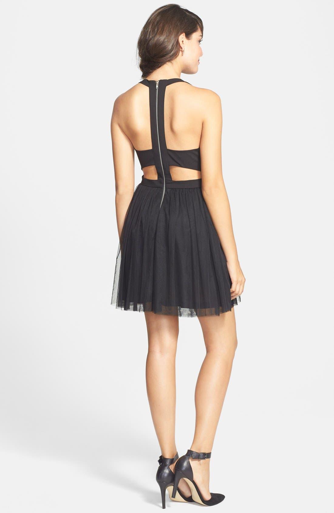 Alternate Image 2  - En Crème Embellished Cutout Fit & Flare Dress (Juniors)