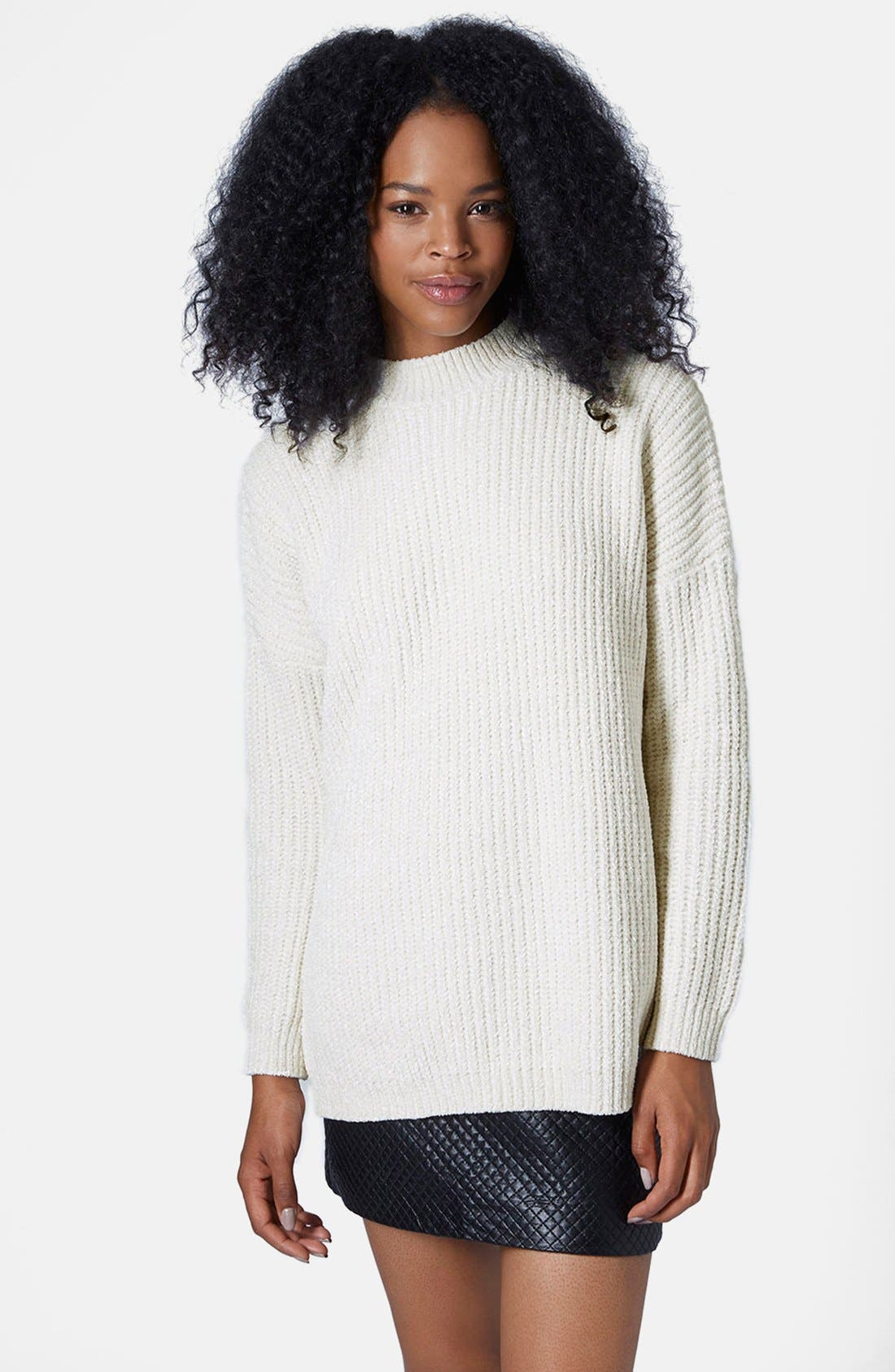 Alternate Image 1 Selected - Topshop Slouchy Chenille Sweater