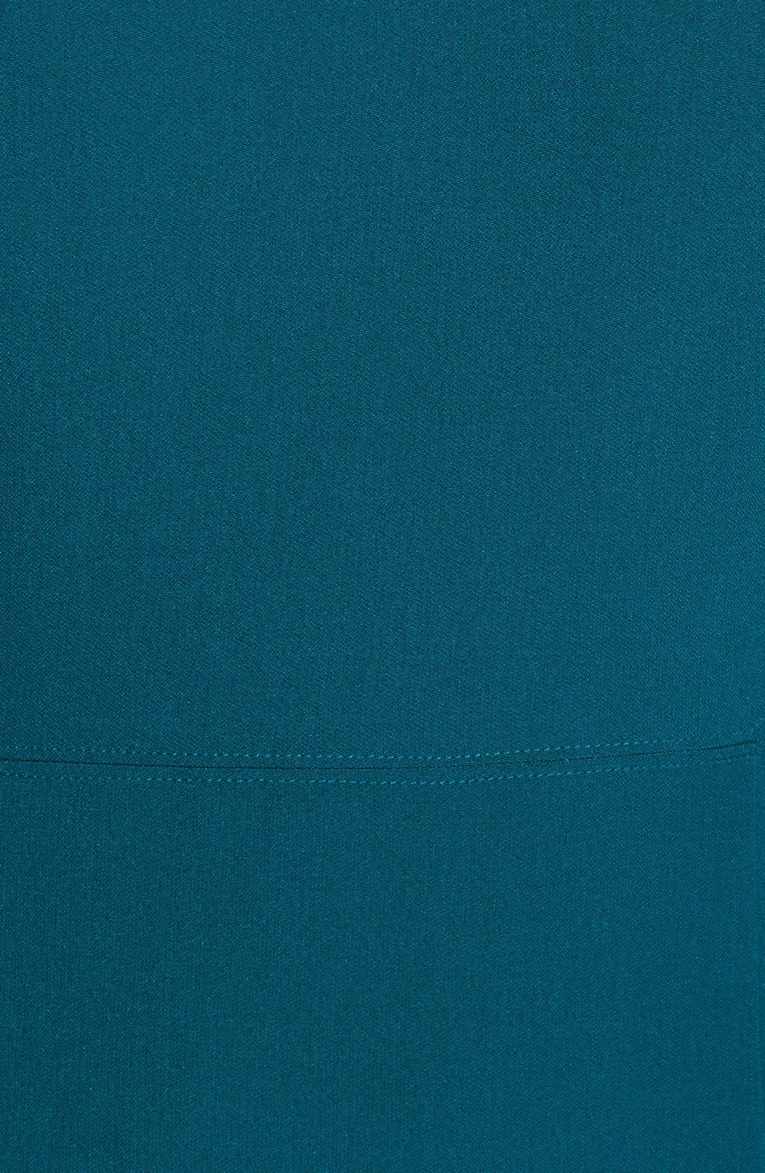 Alternate Image 4  - Adrianna Papell Mesh Insert Crepe Sheath Dress (Regular & Petite)