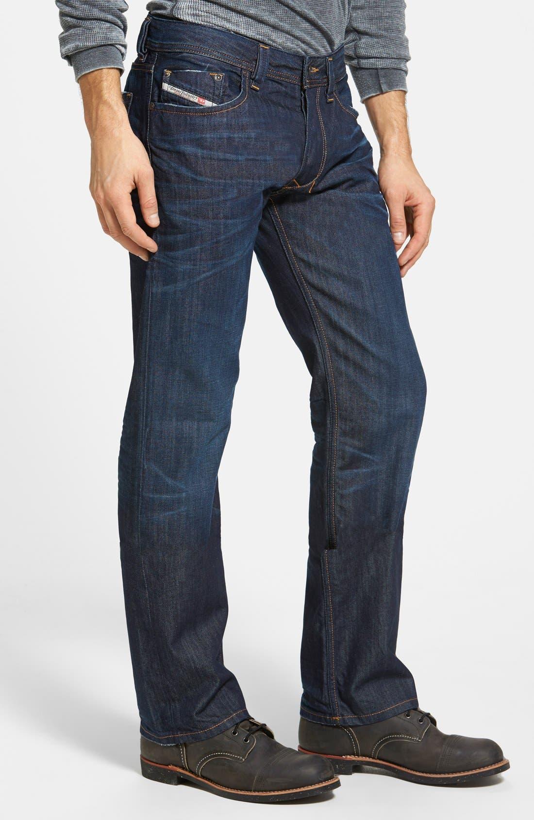 Larkee Straight Leg Jeans,                             Alternate thumbnail 3, color,                             0806W