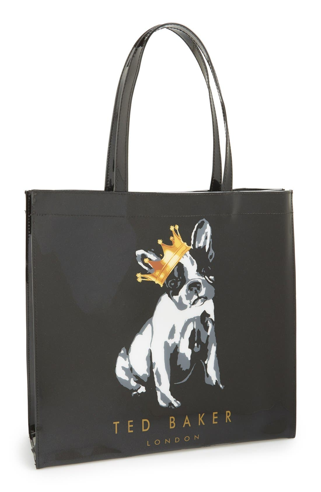 'Cotton Dog - Icon' Tote,                             Main thumbnail 1, color,                             Black