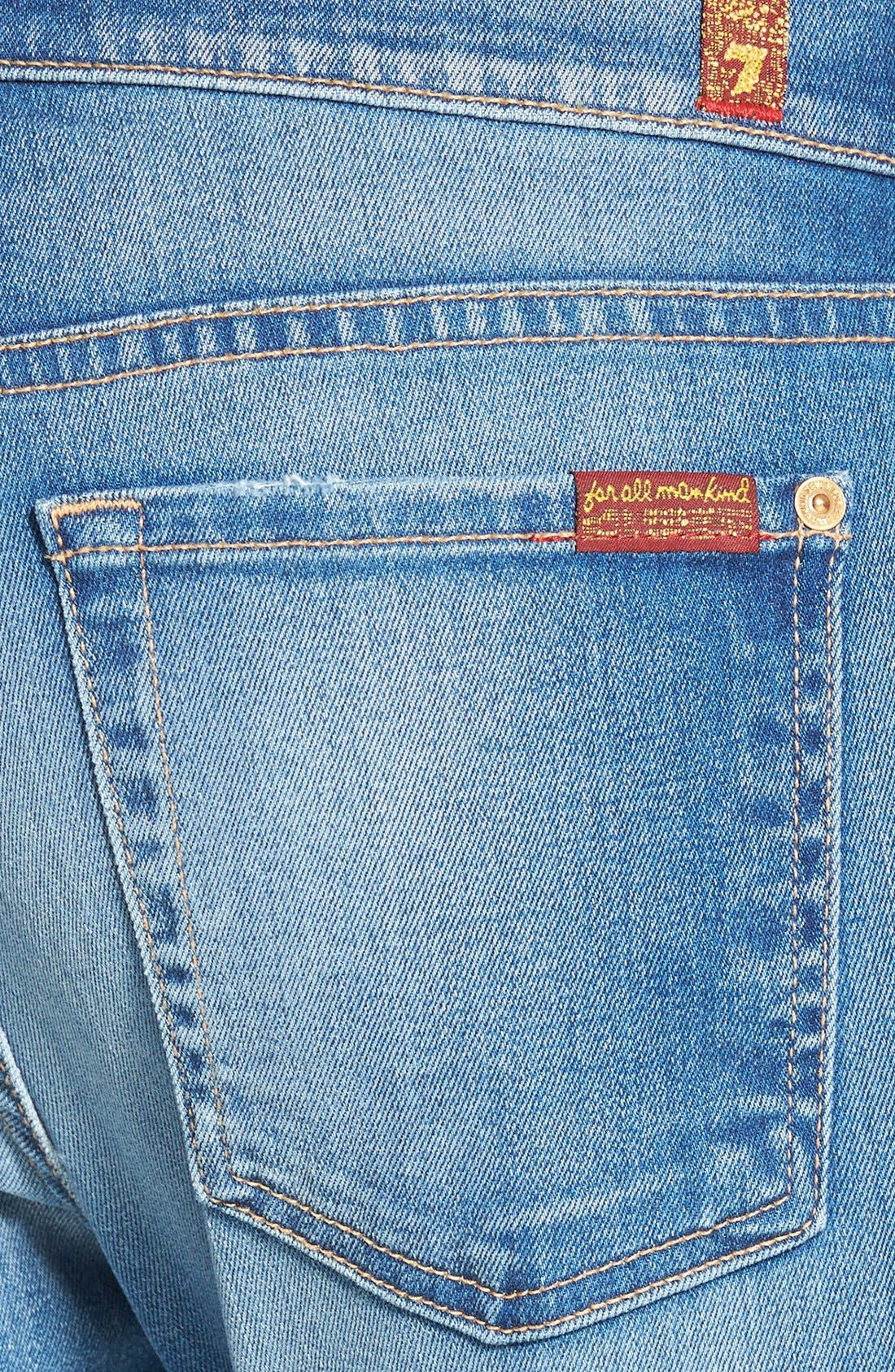 Alternate Image 3  - 7 For All Mankind® Relaxed Skinny Jeans (Bright Skies Blue)
