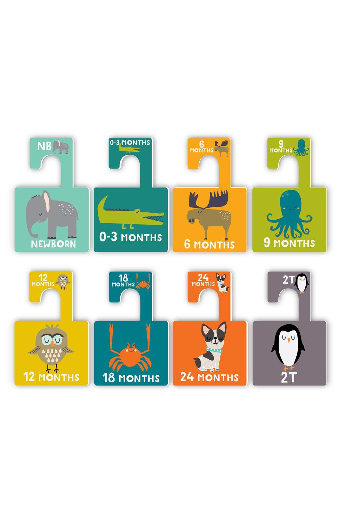Alternate Image 2  - Lucy Darling 'Little Animal Lover' Closet Dividers (8-Pack) (Baby)