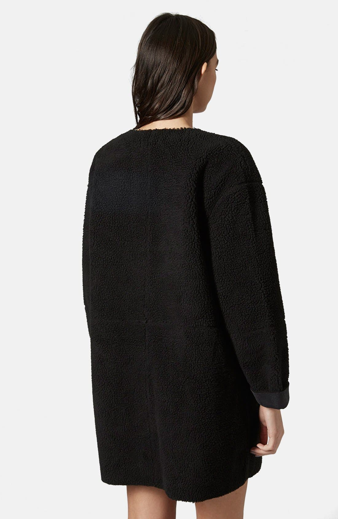 Alternate Image 2  - Topshop Faux Shearling Cocoon Jacket