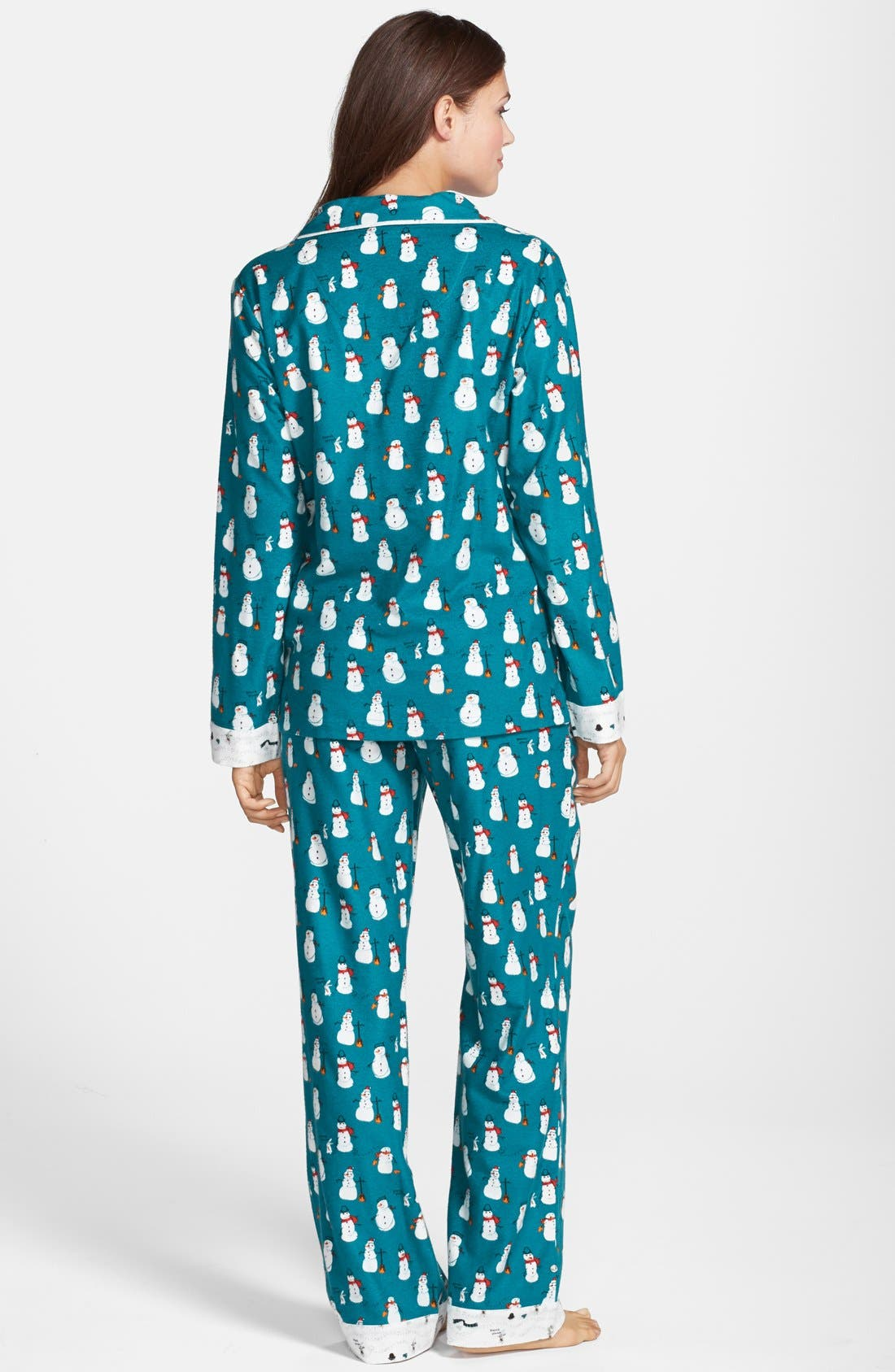 Alternate Image 2  - Munki Munki Flannel Pajamas